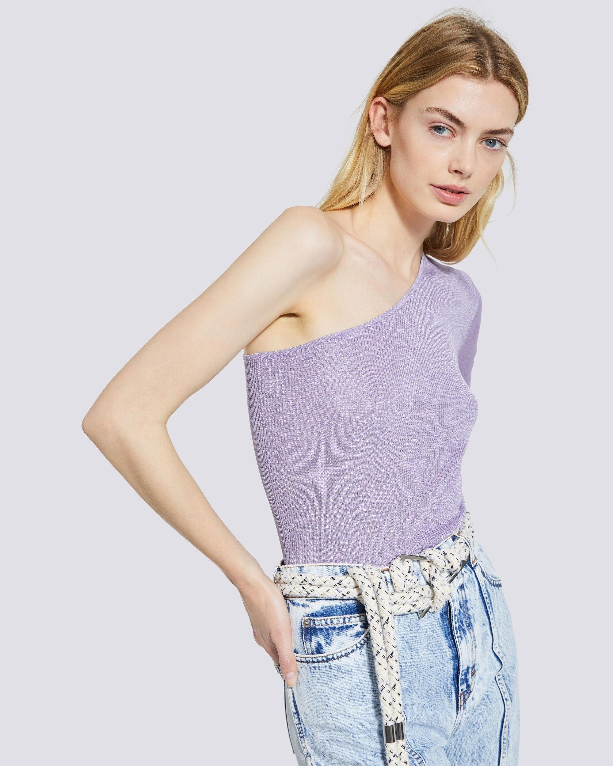 IBARRA RIBBED ONE SHOULDER SWEATER