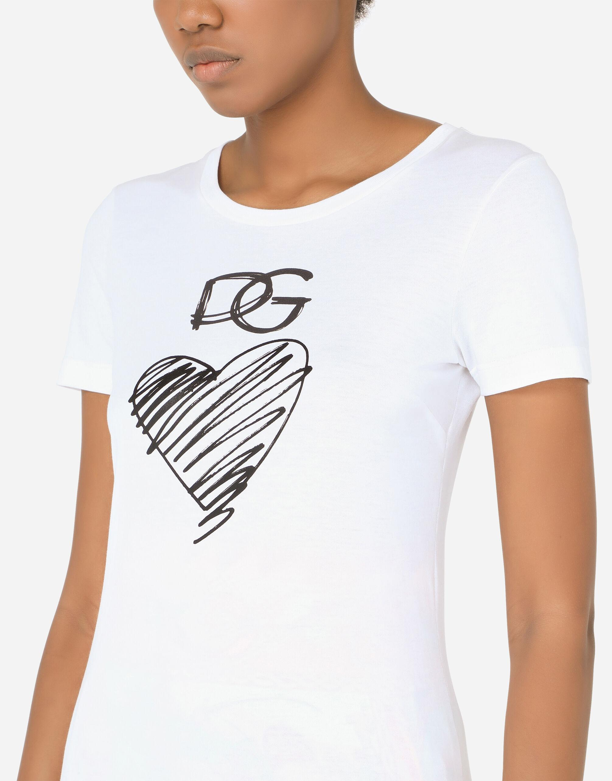 Jersey T-shirt with DG and heart print 4