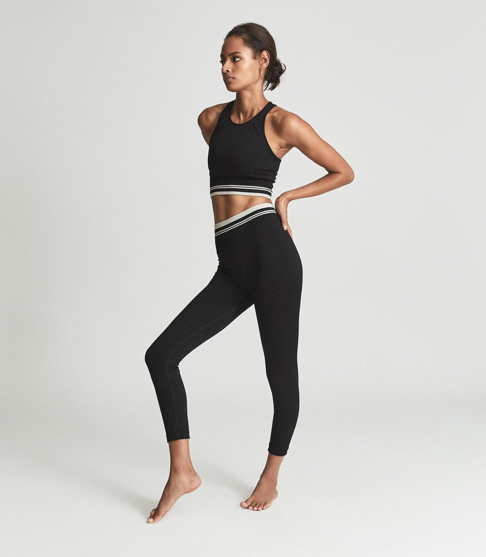 CLEMMIE - JERSEY LEGGINGS WITH WAISTBAND DETAILING