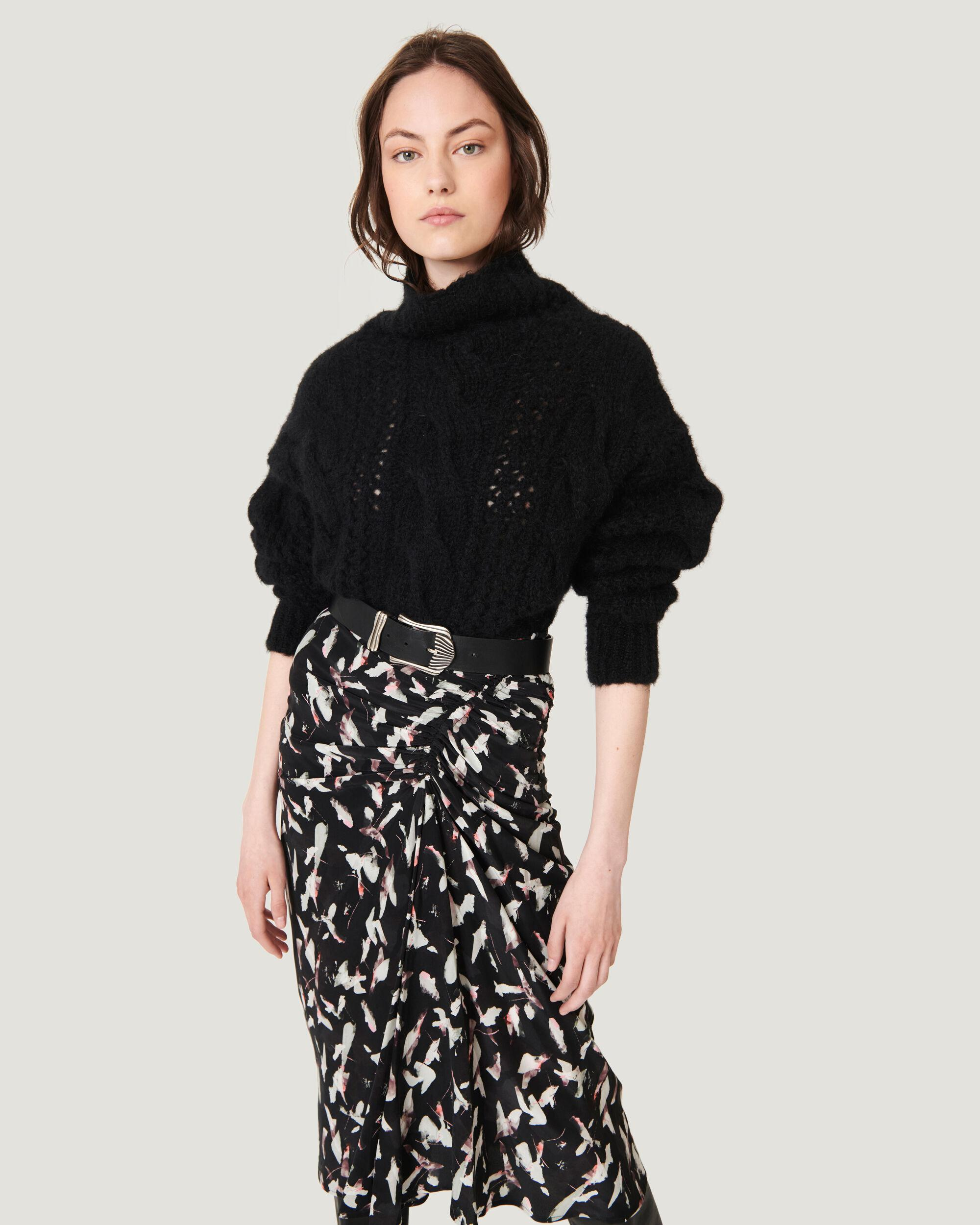 FIBY RELAXED CABLEKNIT TURTLENECK SWEATER