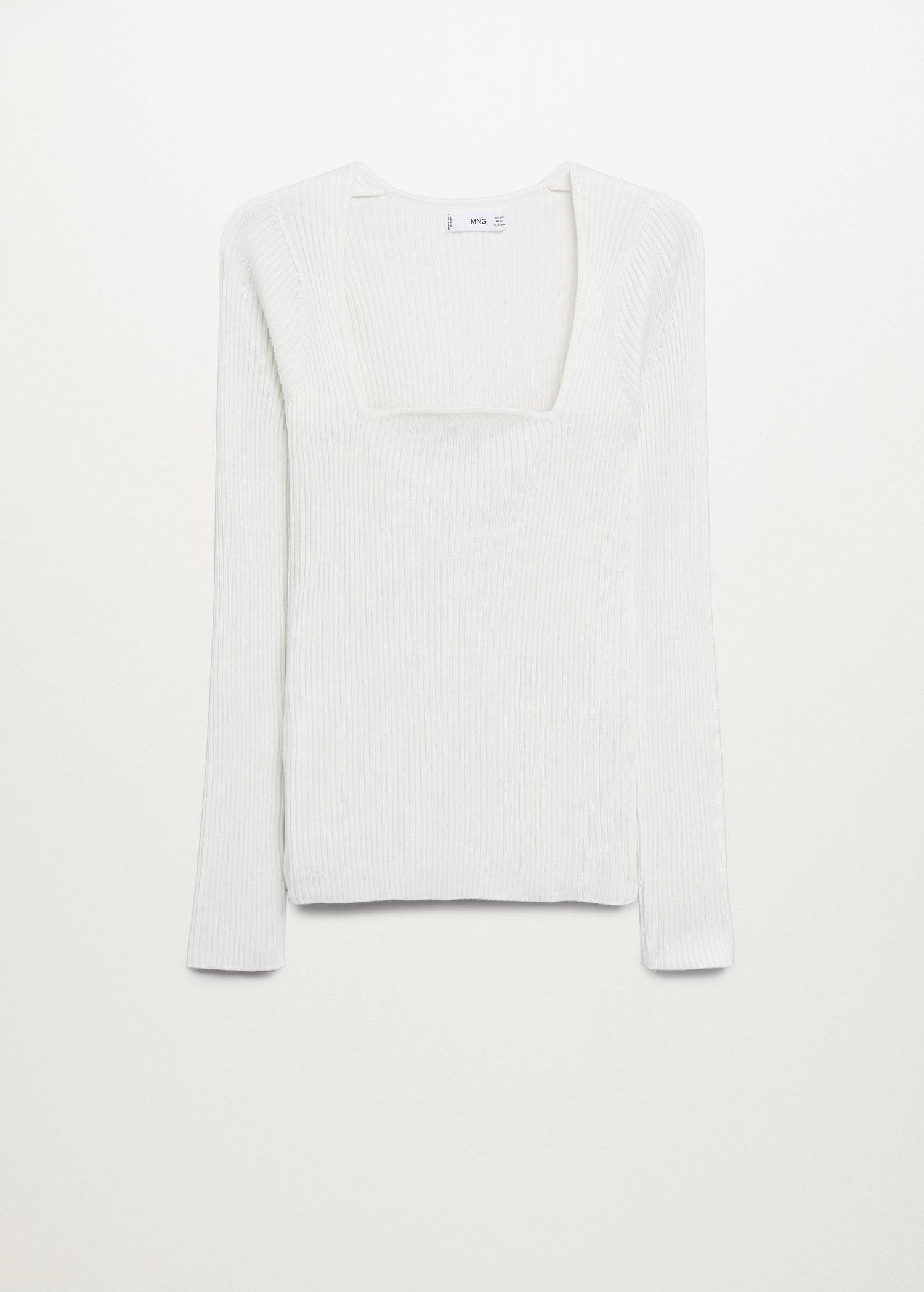 Ribbed fine-knit sweater 6
