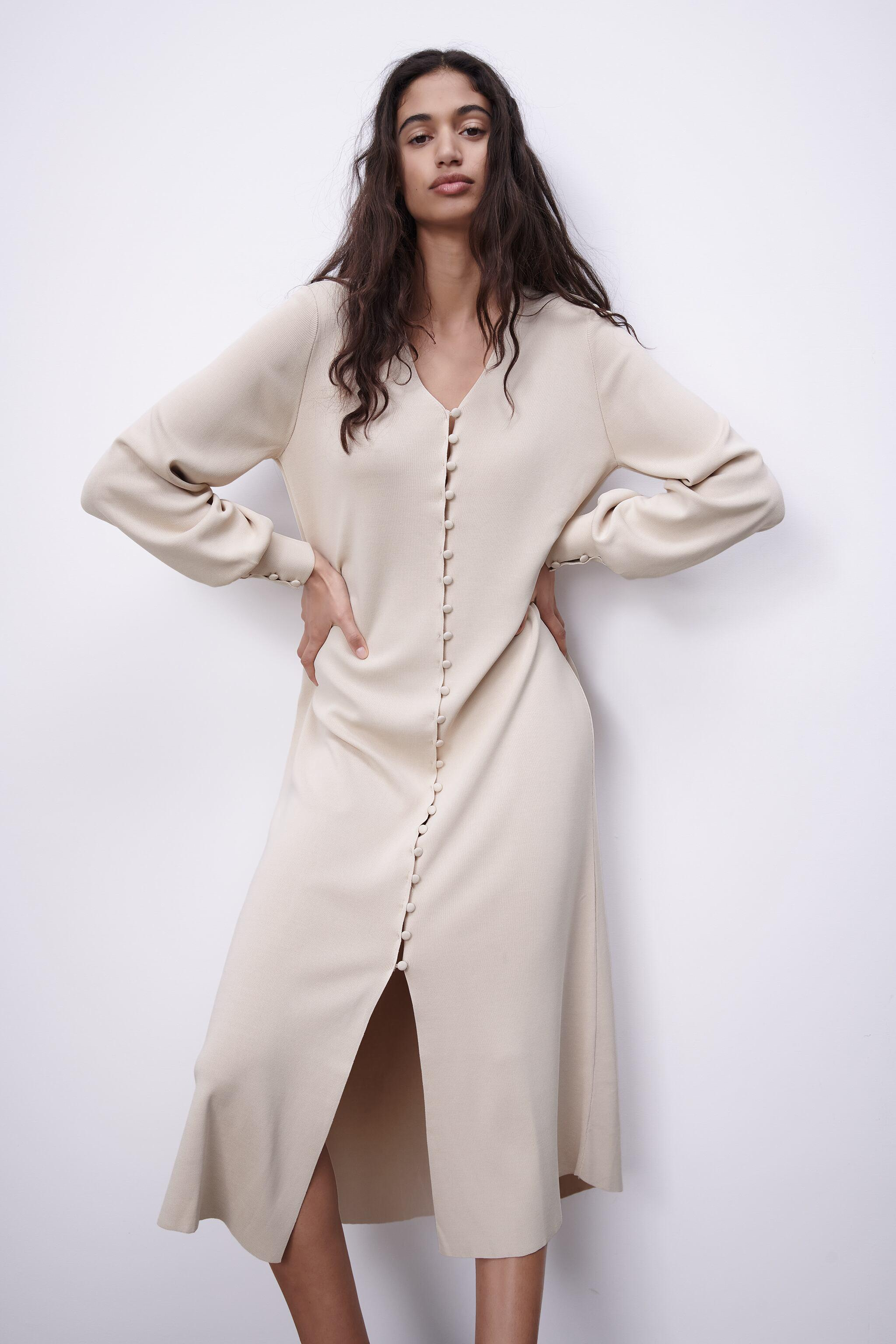 LIMITED EDITION BUTTONED KNIT DRESS 1