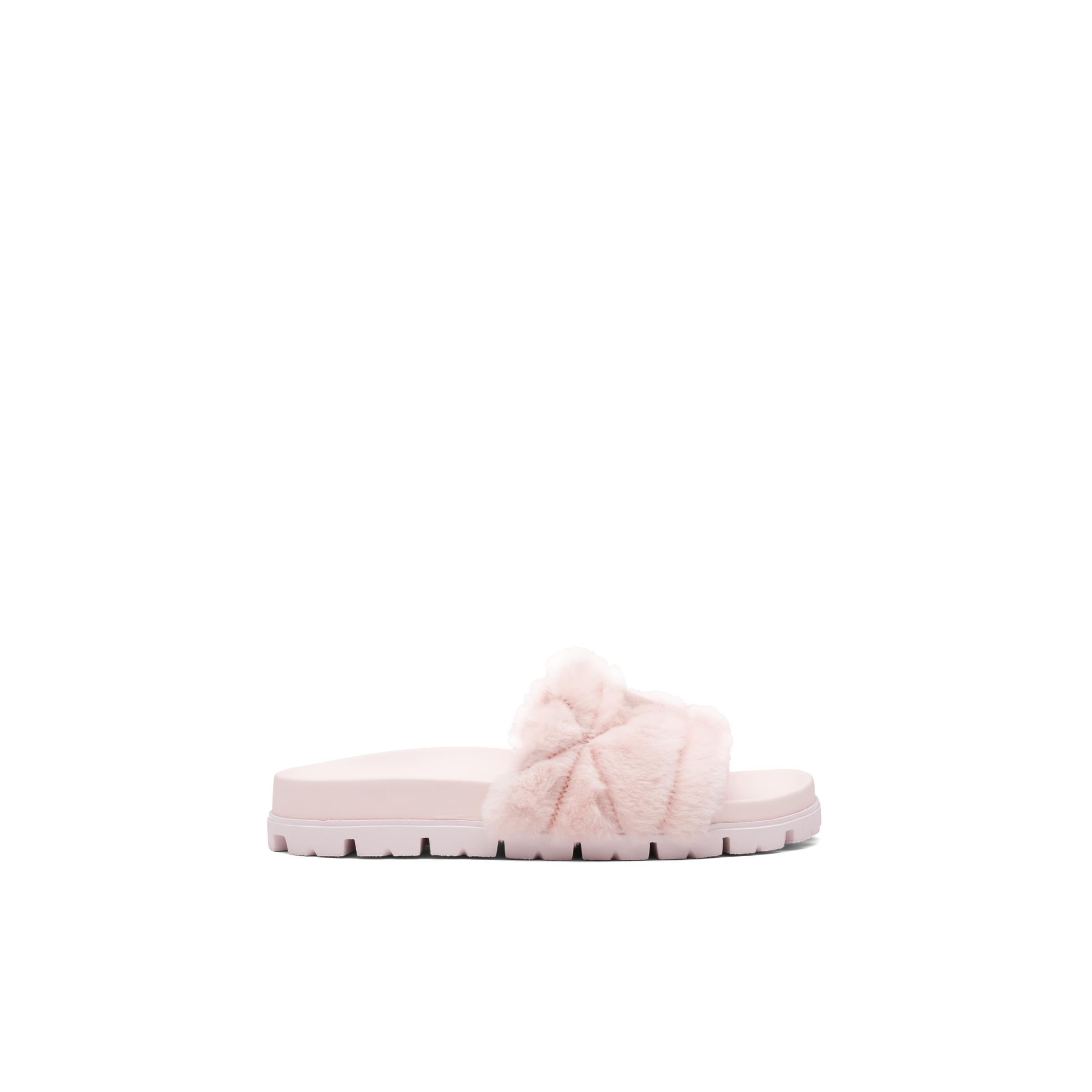 Shearling Slides Women Orchid Pink 2