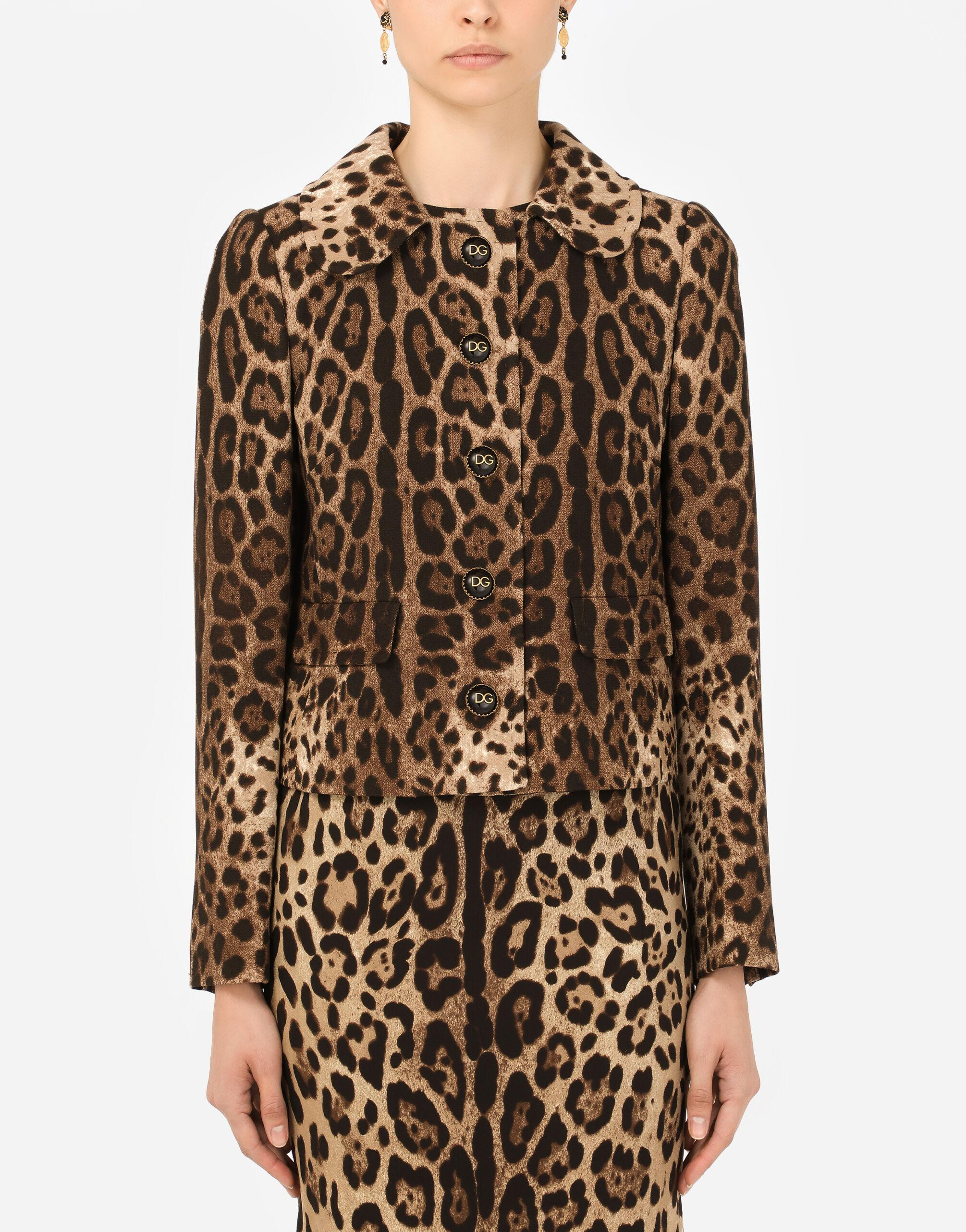 Wool Dolce jacket with leopard print