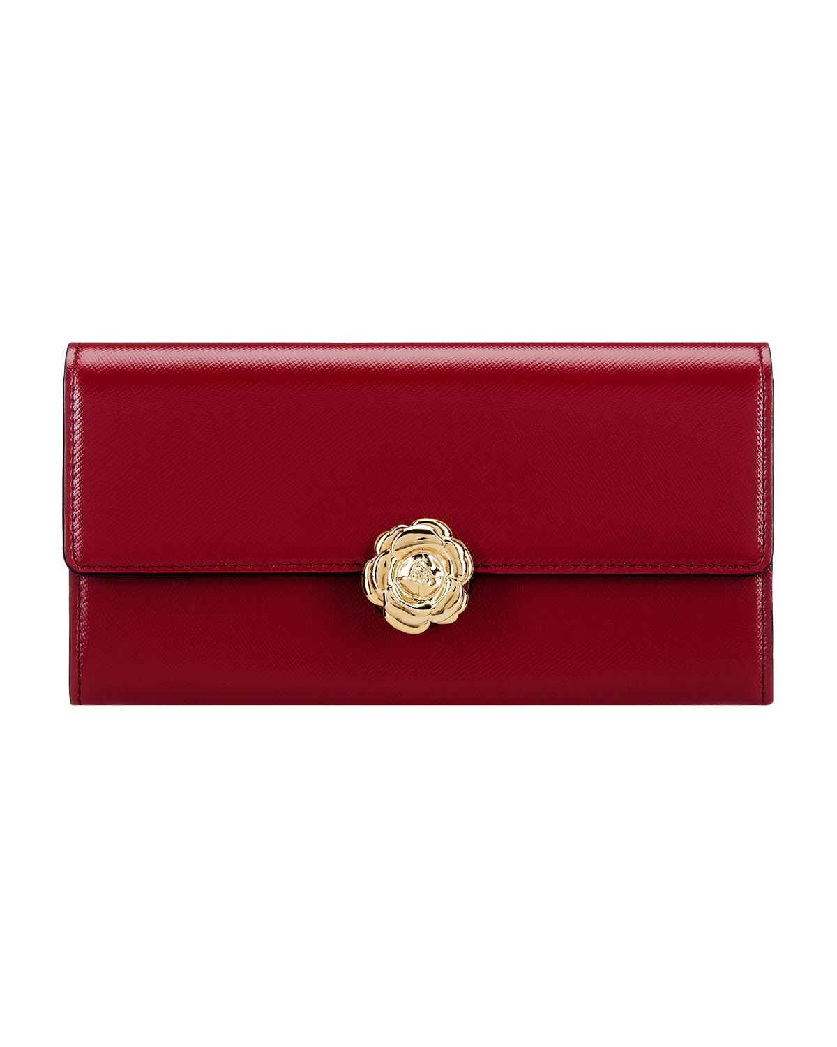 RED CONTINENTAL WALLET