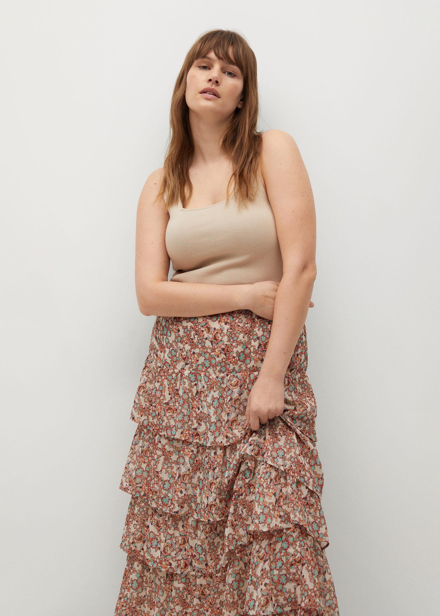 Printed skirt with ruffles 3