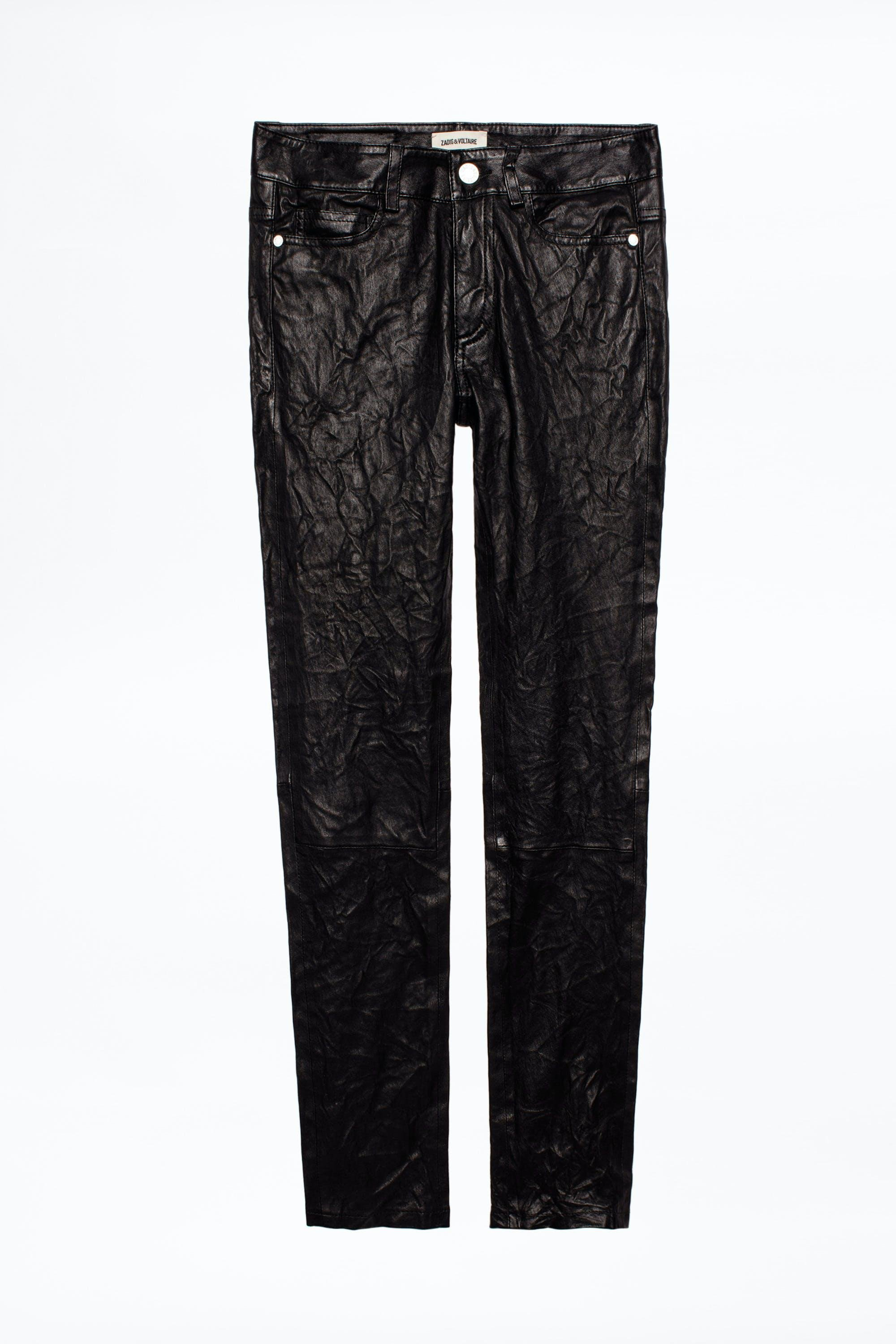 Phlame Crinkle Leather Pants 5
