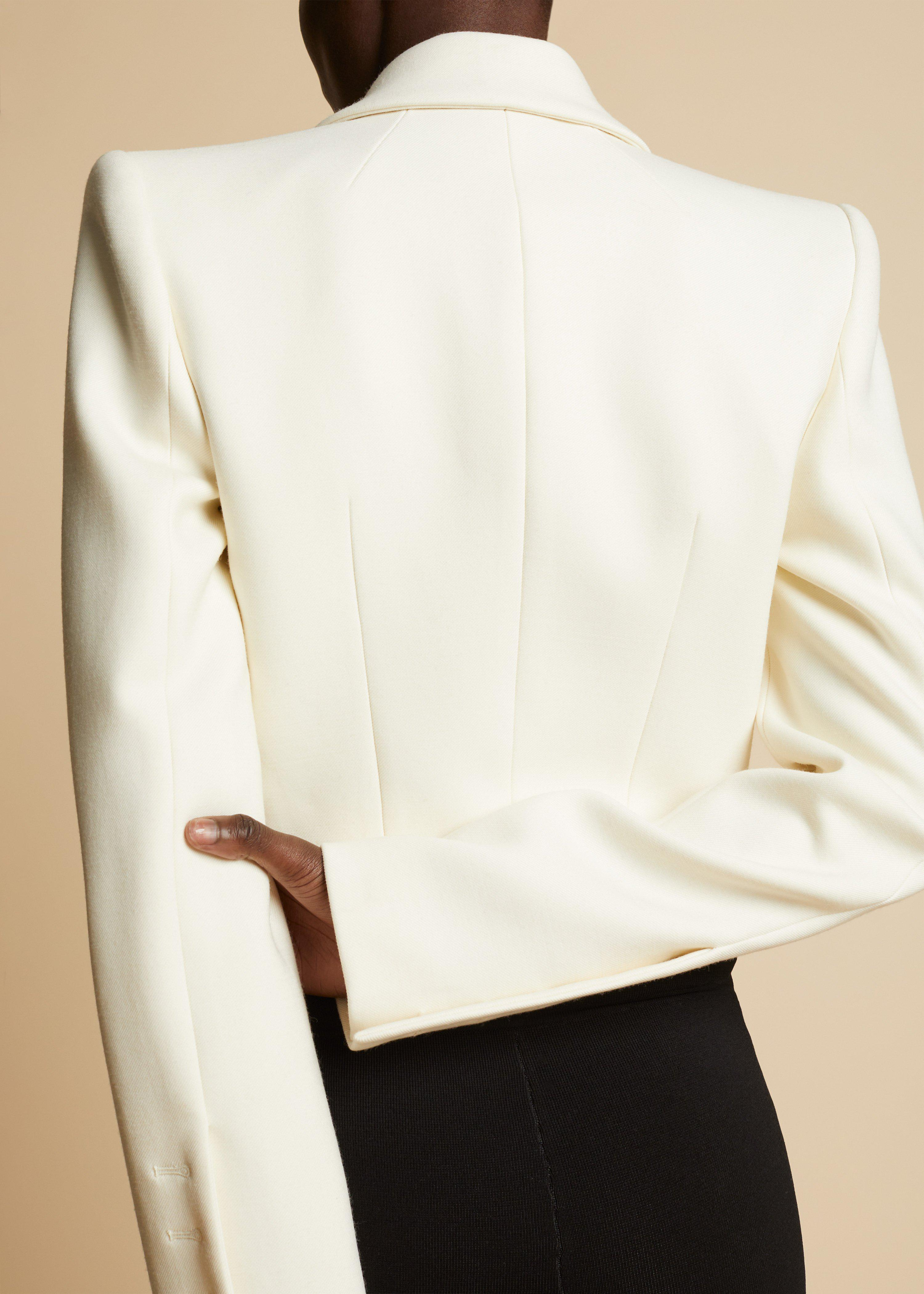 The Lucille Blazer in Ivory 3