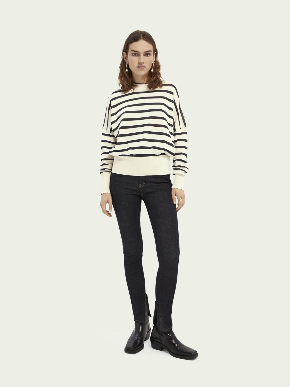 Knitted cotton-blend sweater 1