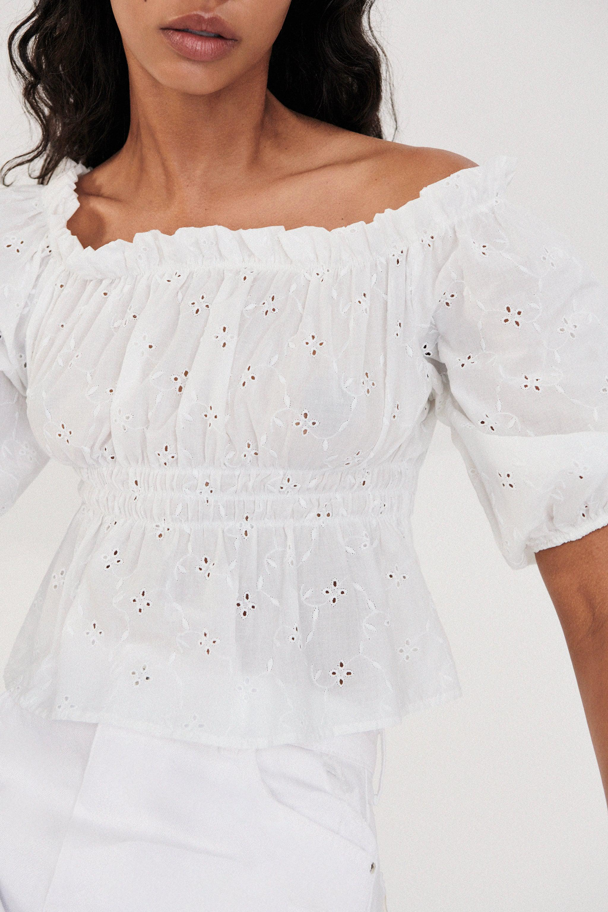 OPENWORK EMBROIDERED TOP 2