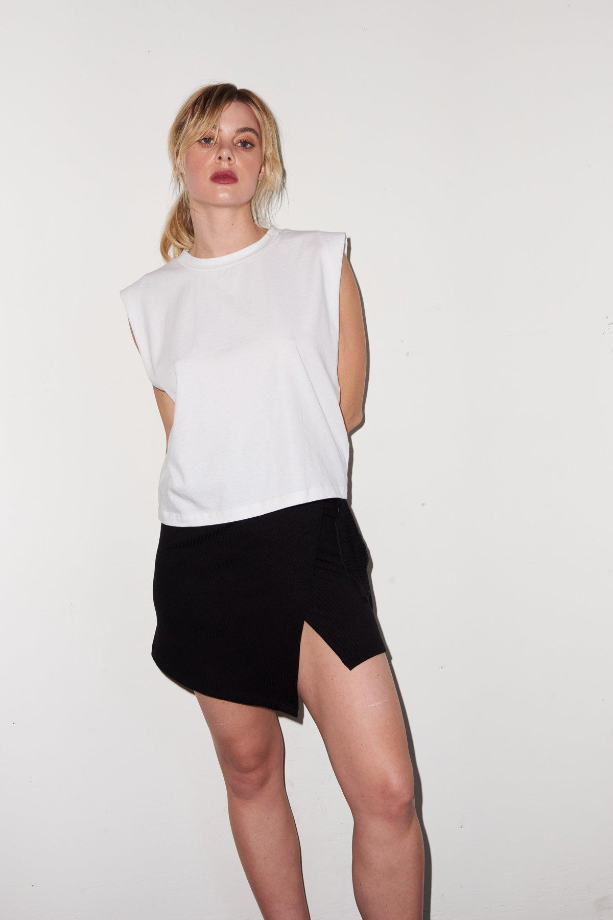 Strong Shoulder Tee - White 0