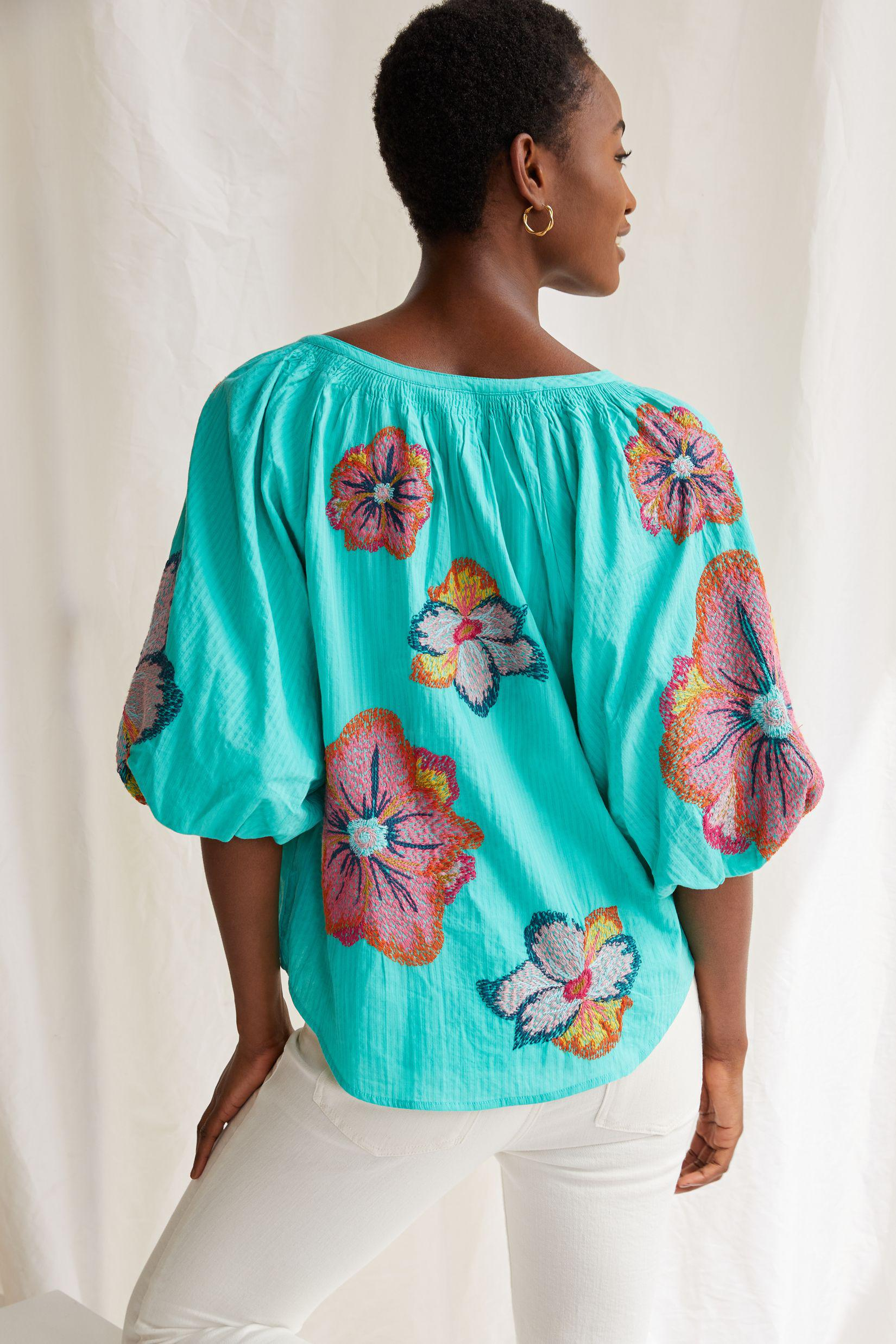Maeve Embroidered Peasant Blouse 1