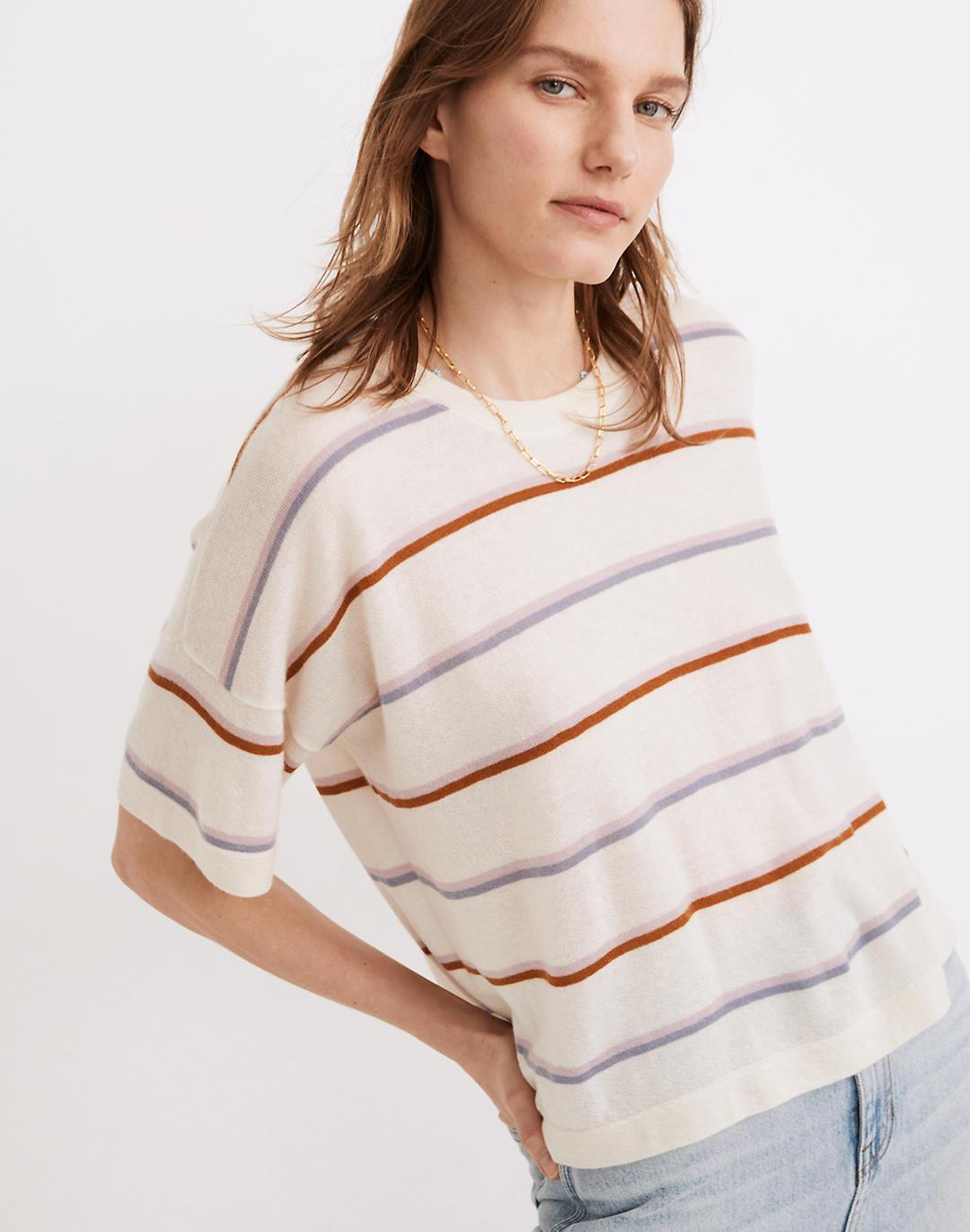 (Re)sponsible Weightless Cashmere Sweater Tee in Adler Stripe