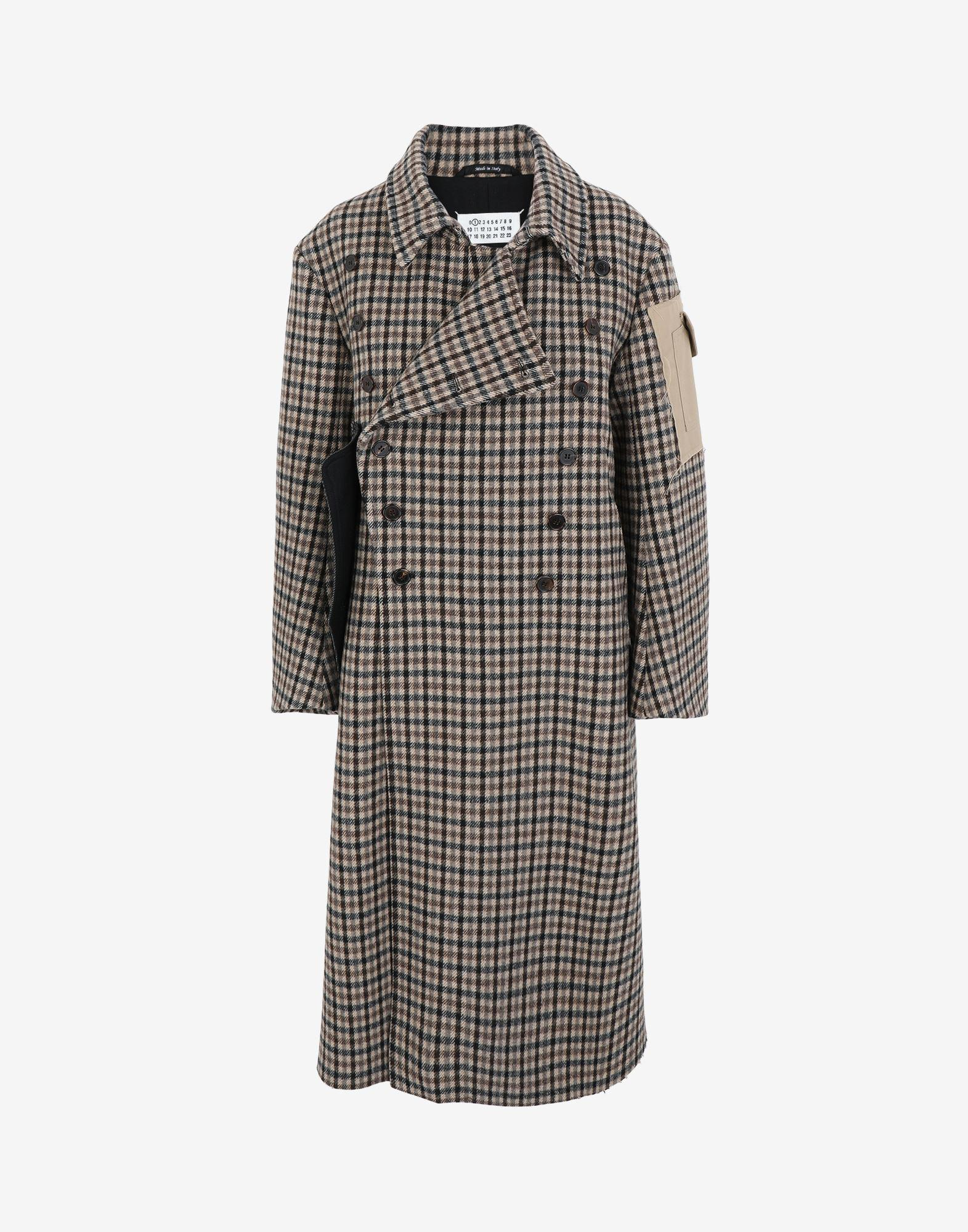 'Memory of' check trench coat 4