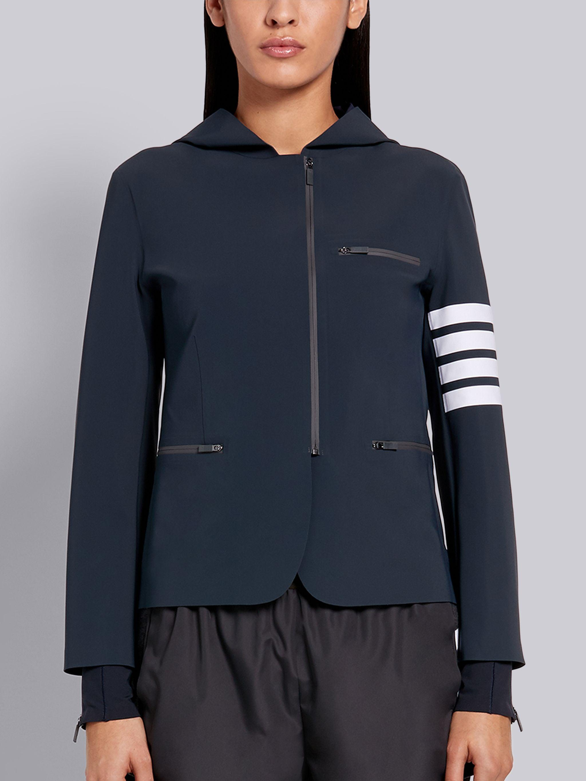 Charcoal Compression Tech Hooded 4-bar Zip-up Jacket