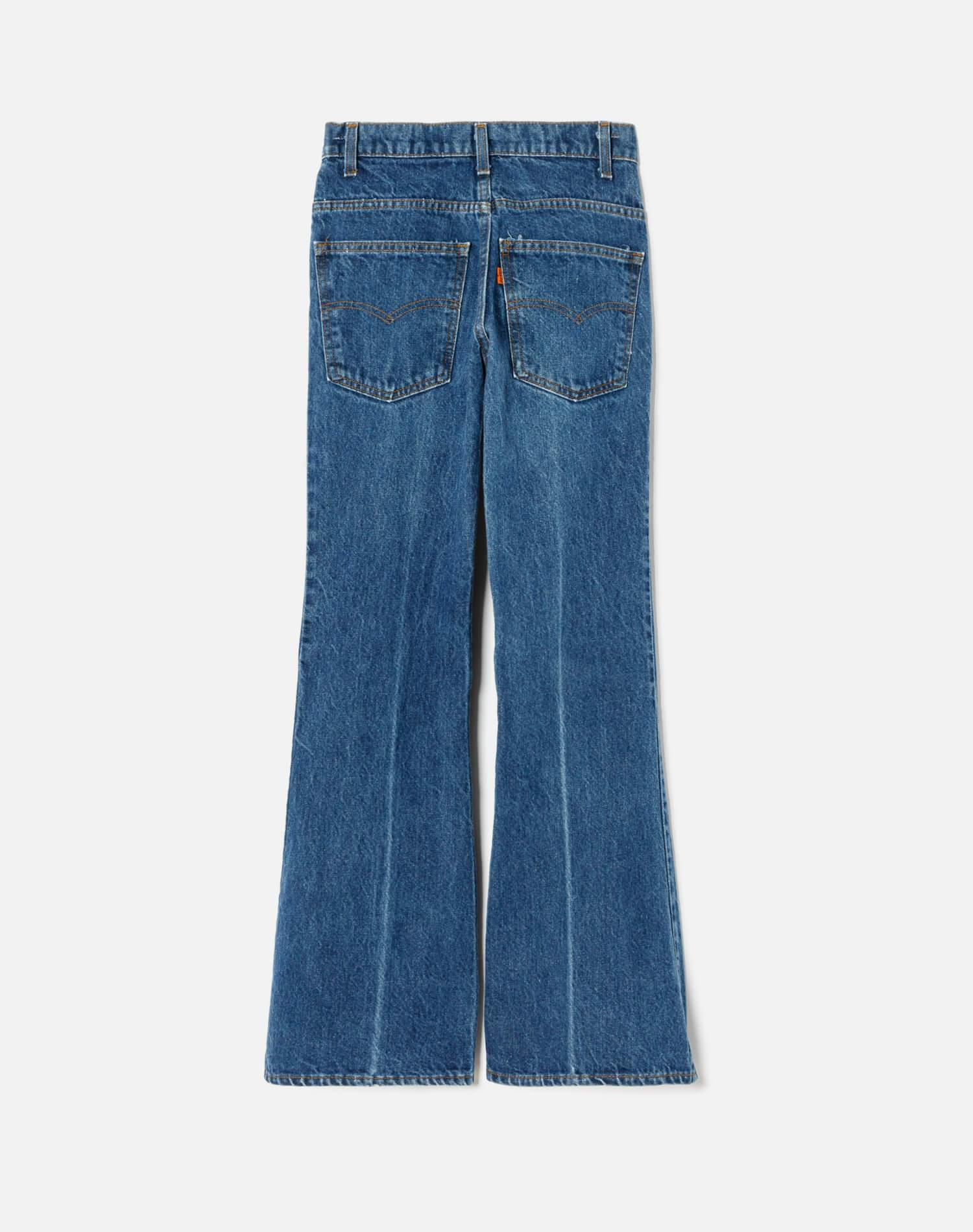 1970s Vintage Levi's Low Rise Wide Leg With Rip Size 25 - #171 1