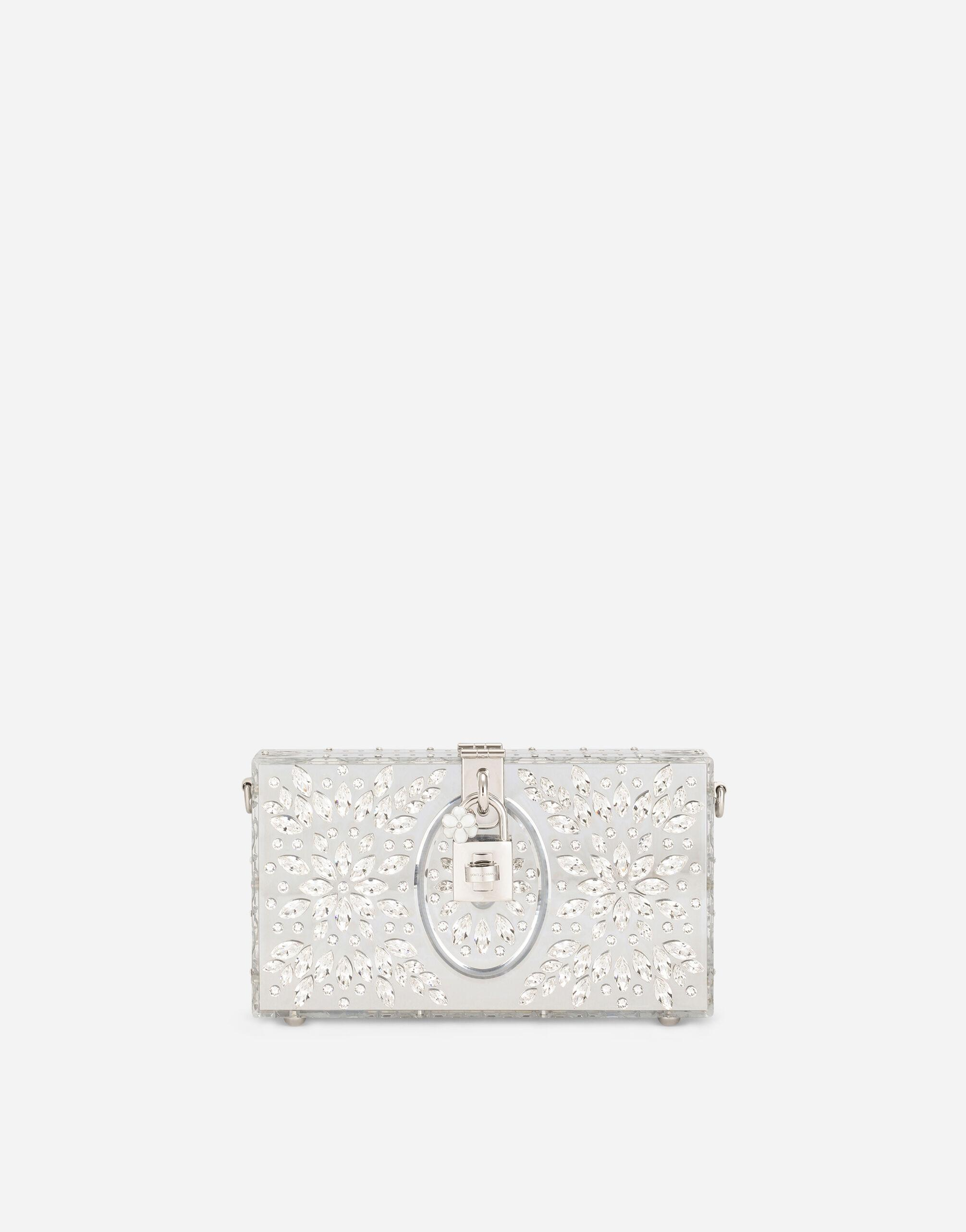 Acrylic glass and lace Dolce Box clutch