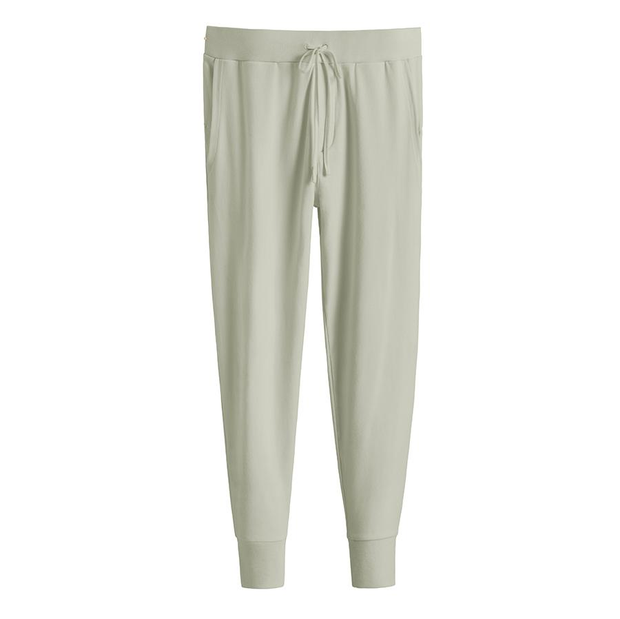 Women's French Terry Tapered Lounge Pant in Sage | Size: