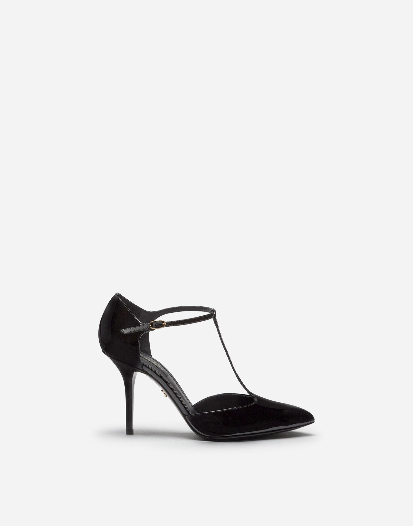 Bellucci t-strap shoes in shiny calfskin