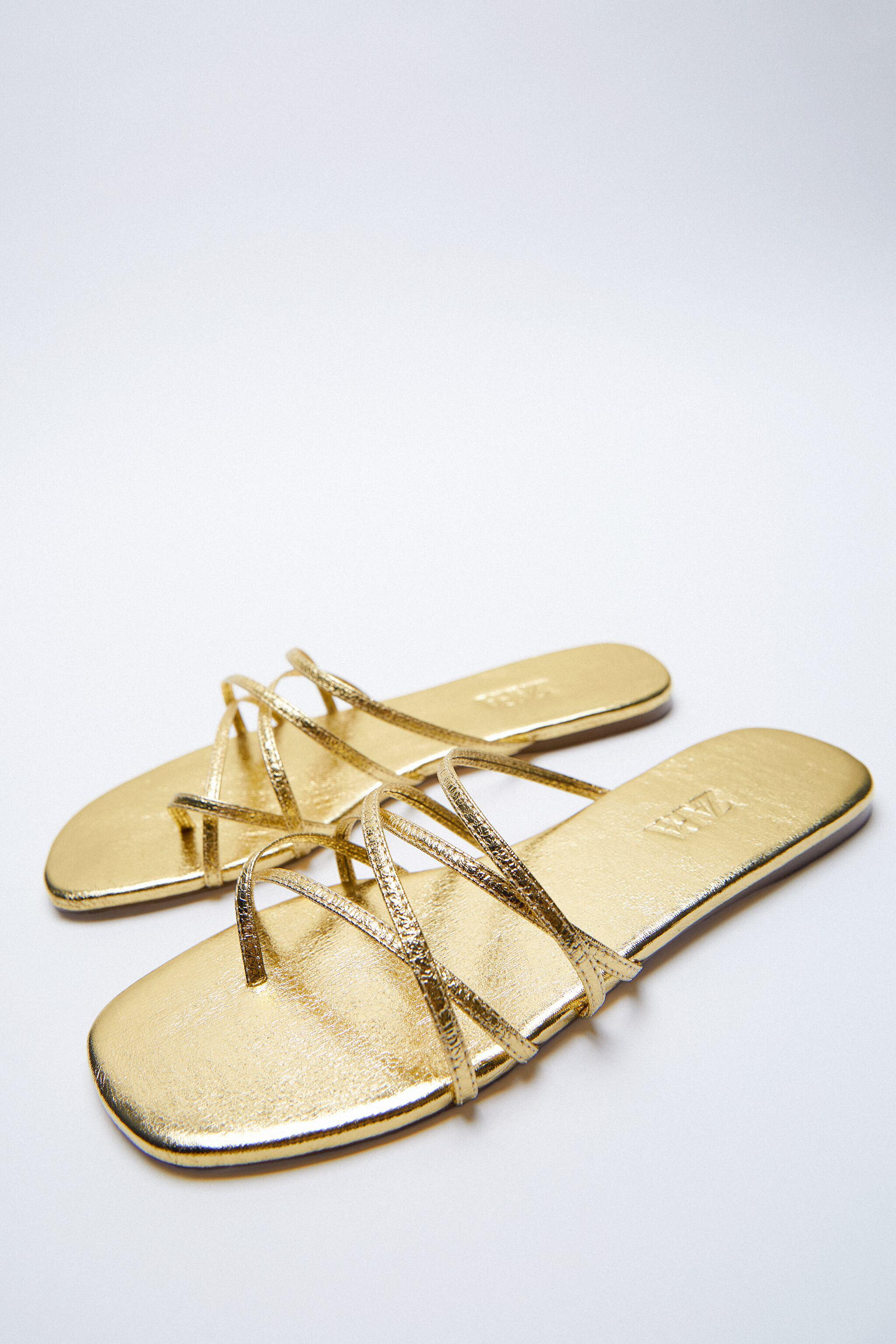 THIN STRAPPY FLAT SANDALS 4