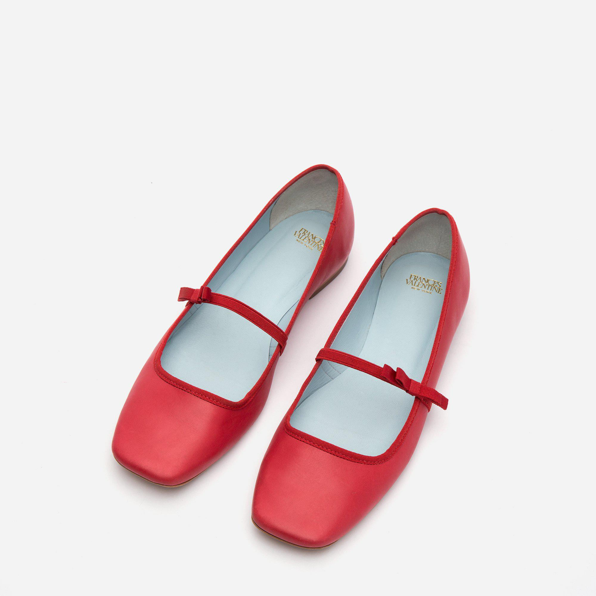 Jude Mary Jane Leather Flat Red 1