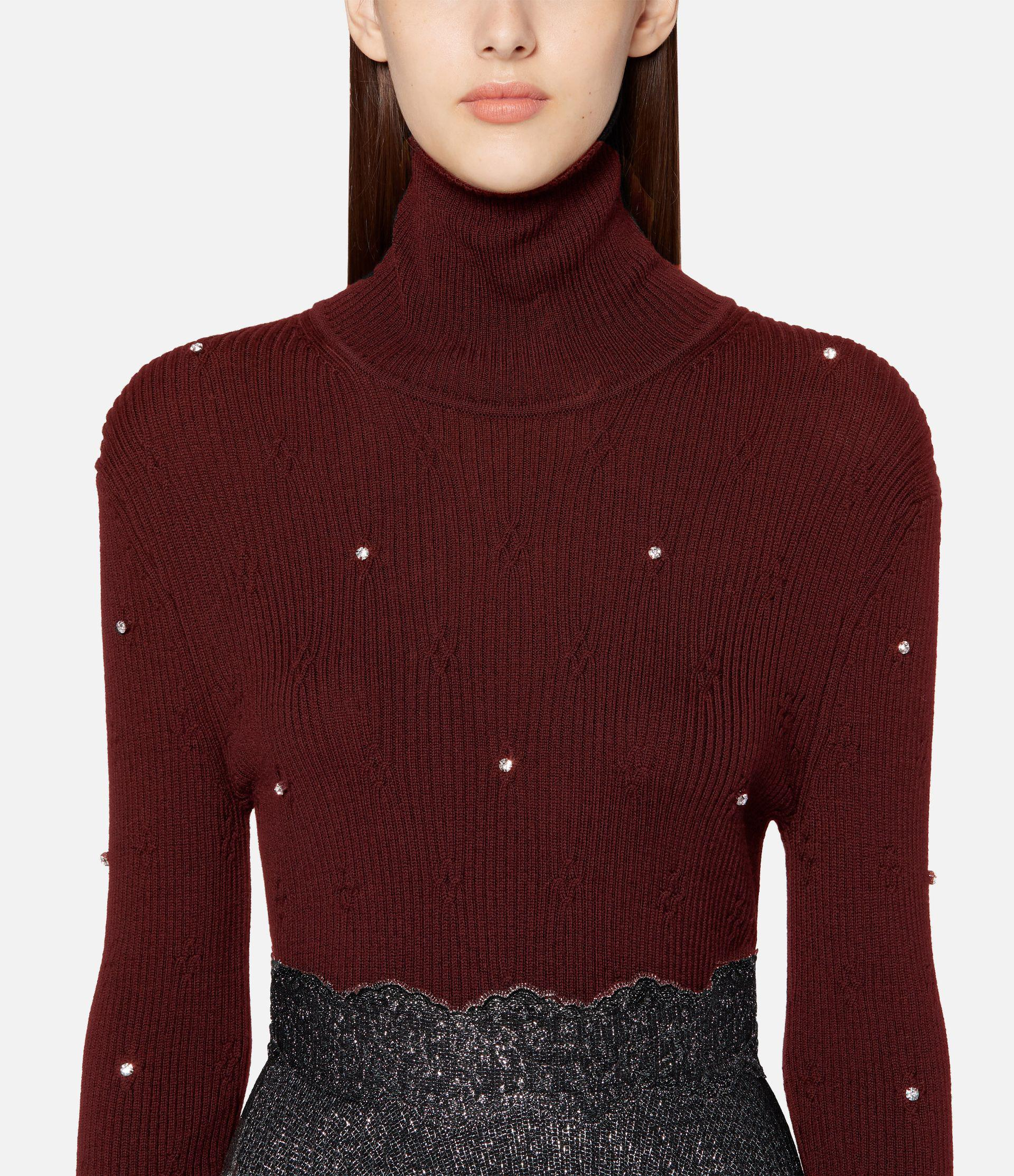 roll neck cable sweater 2
