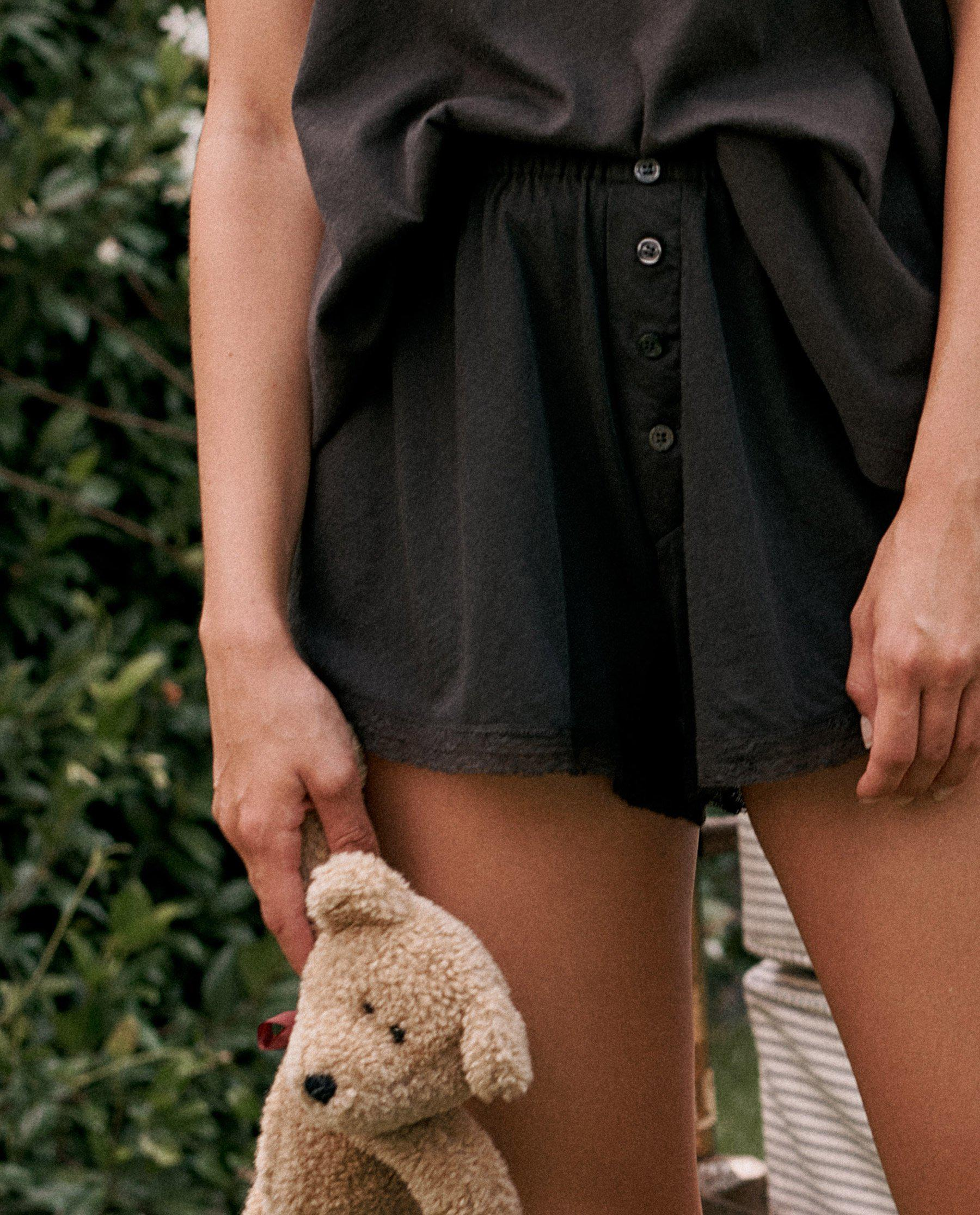 The Lace Tap Short. -- ALMOST BLACK