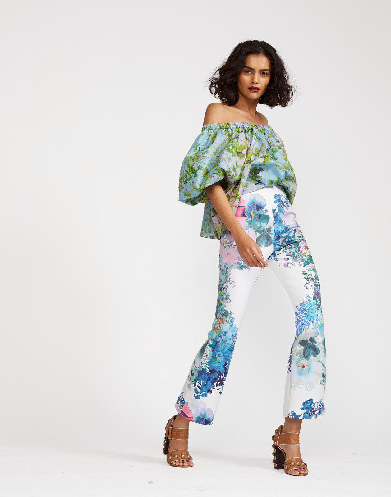 Hourglass Floral Bonded Pants