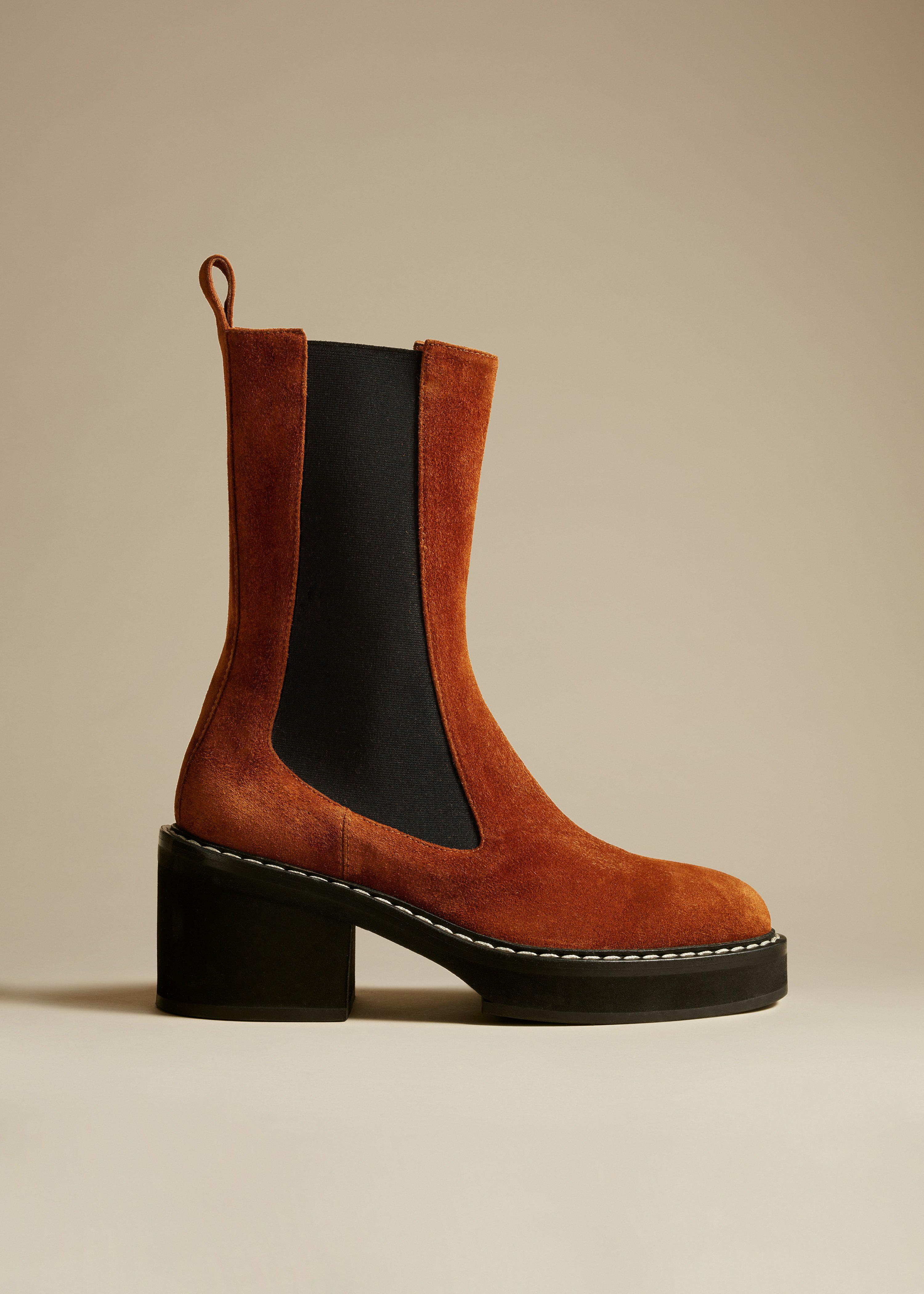 The Calgary Boot in Caramel Suede