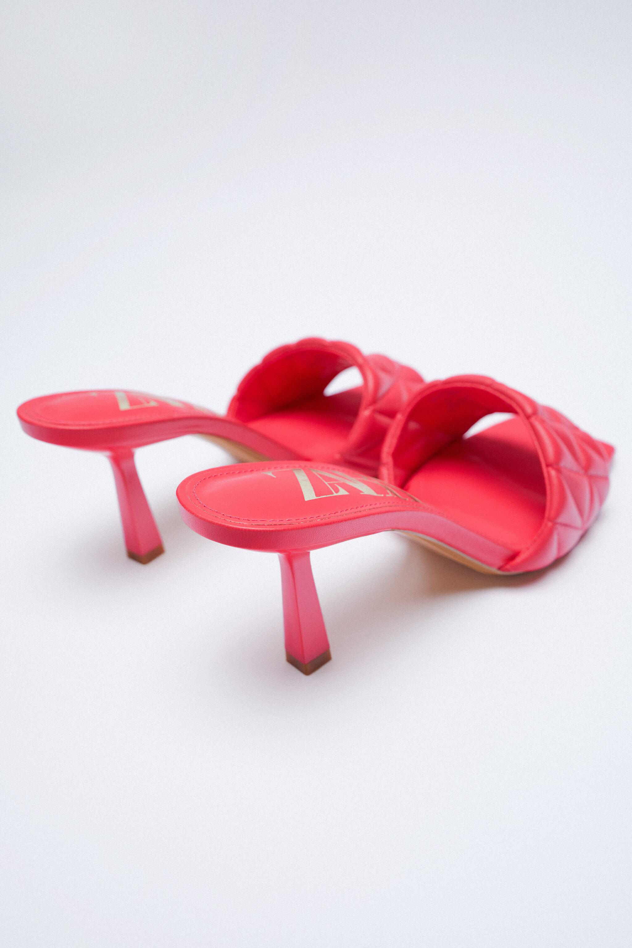 HEELED QUILTED SANDALS 6