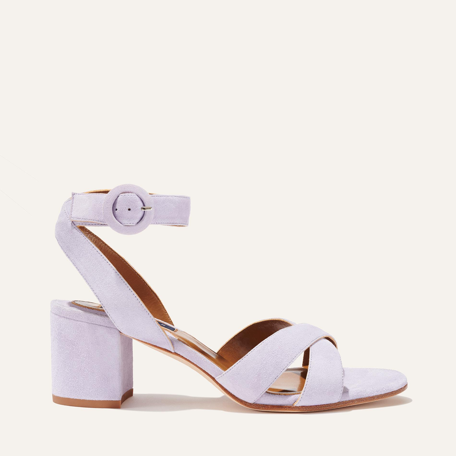 The City Sandal - Lilac Suede