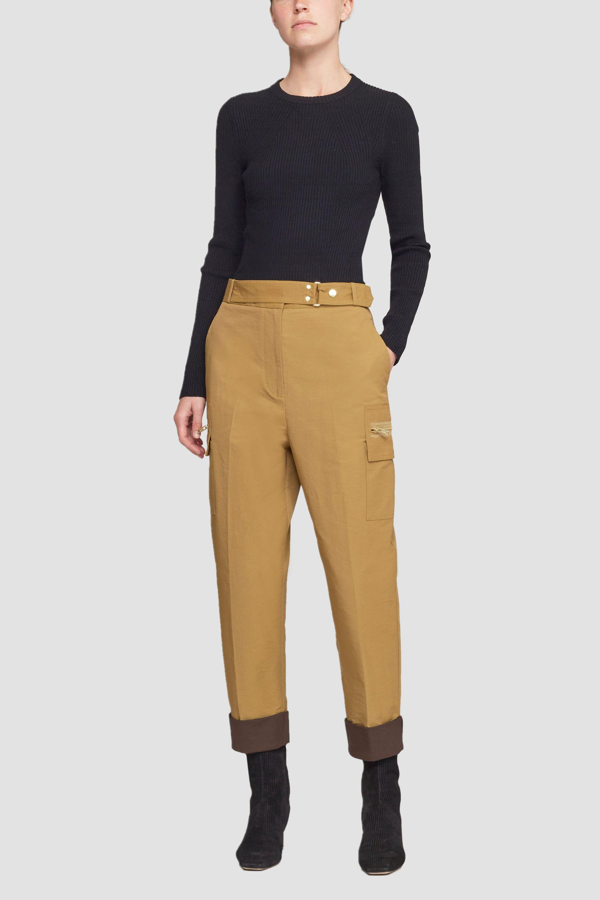 Buckled Cropped Trouser