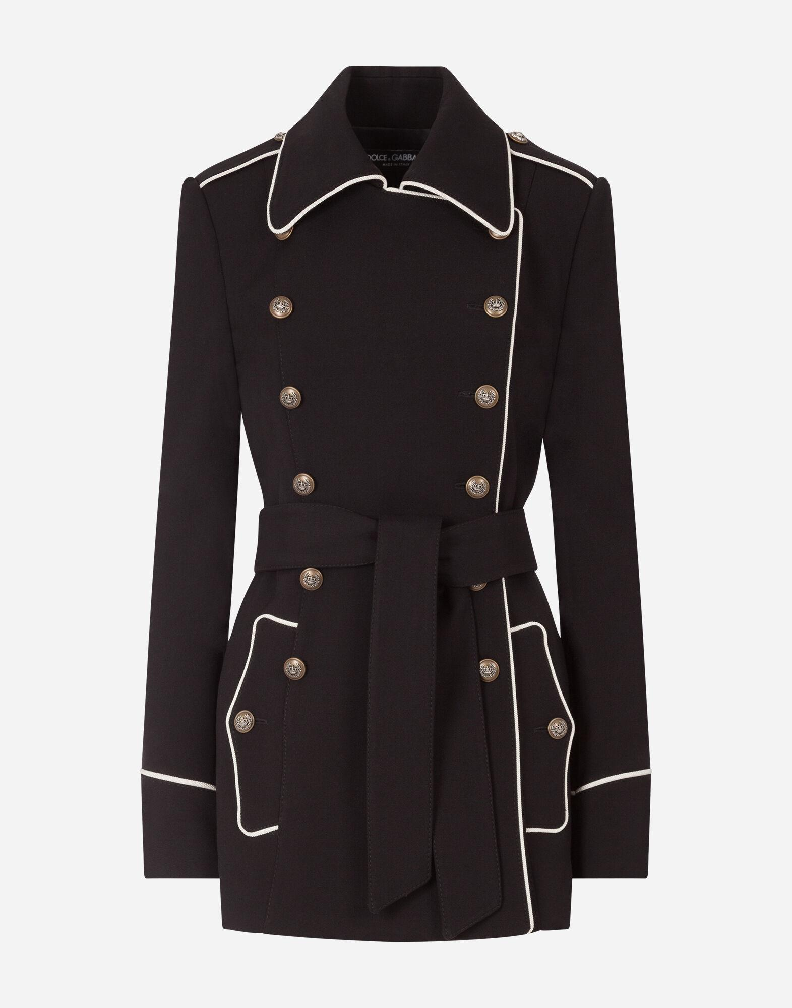 Woolen peacoat with decorative buttons 3