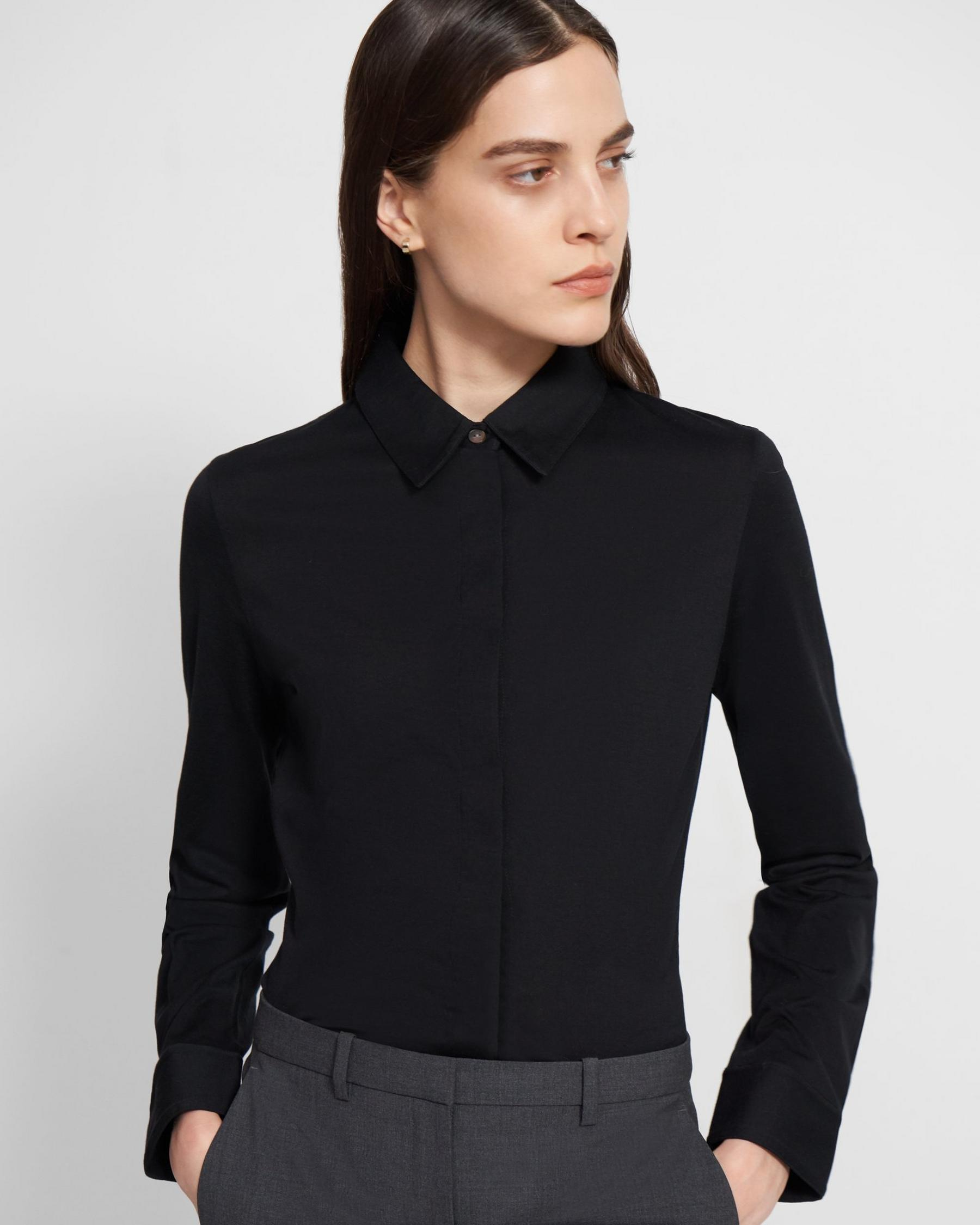 Fitted Shirt in Cotton Jersey 3