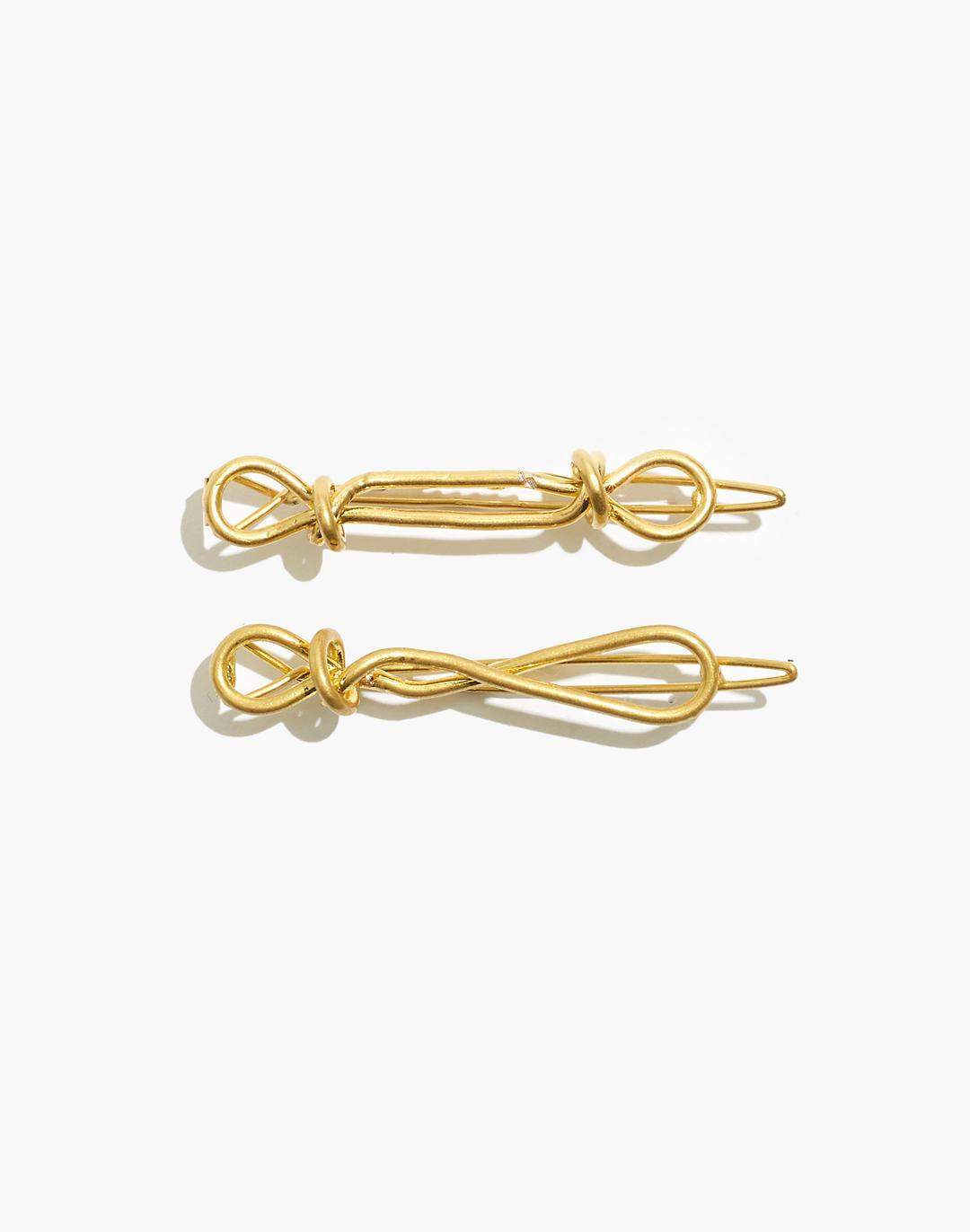 Two-Pack Knotted Hair Clips