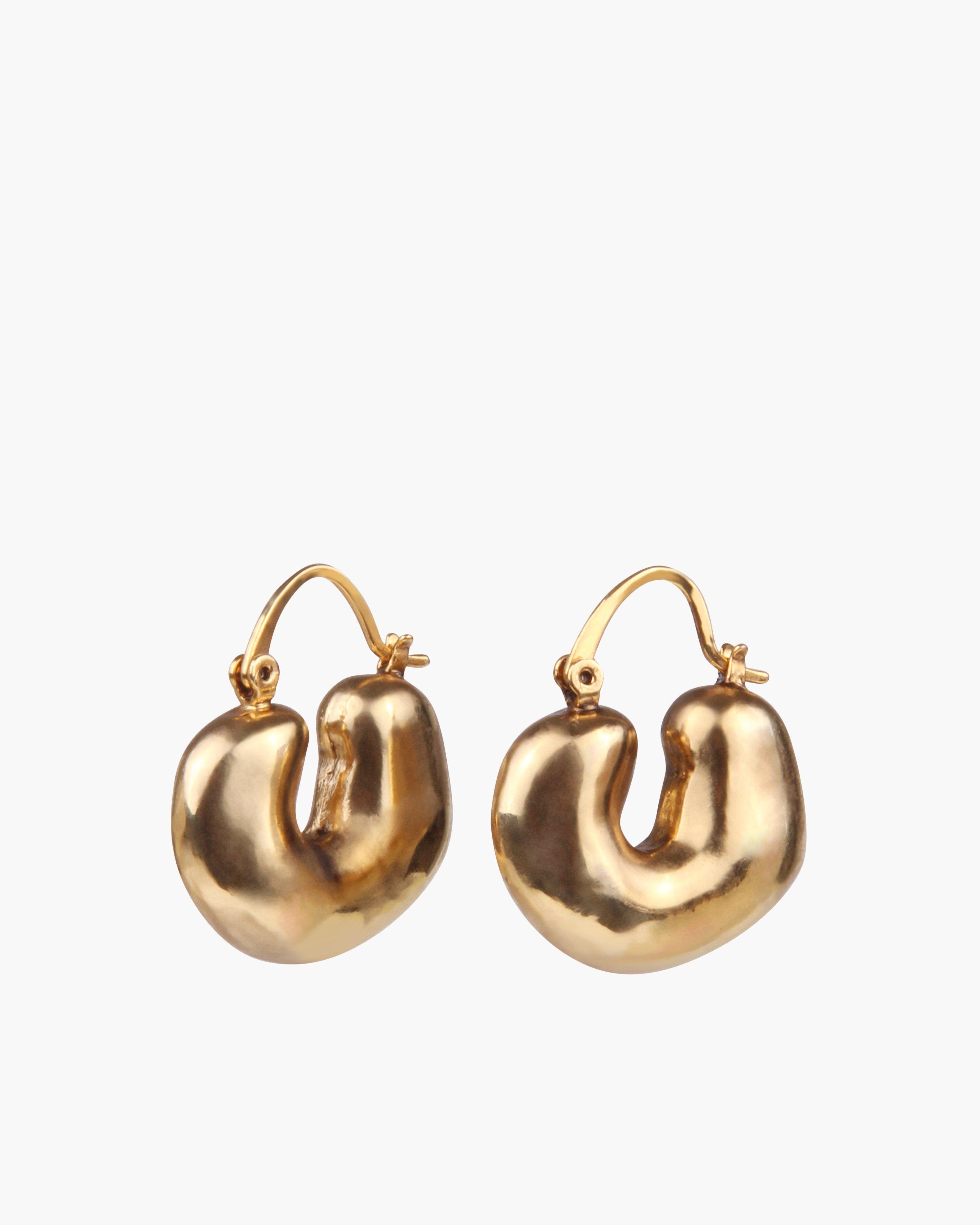 Crescent Hoops Gold Plated 1