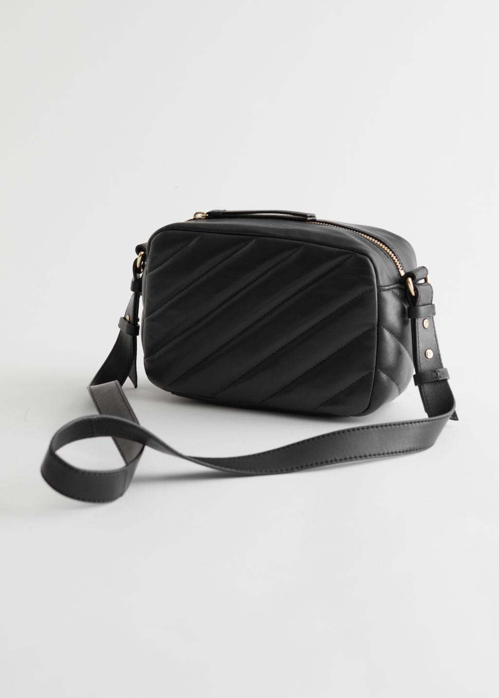 Quilted Stripe Leather Bag 2