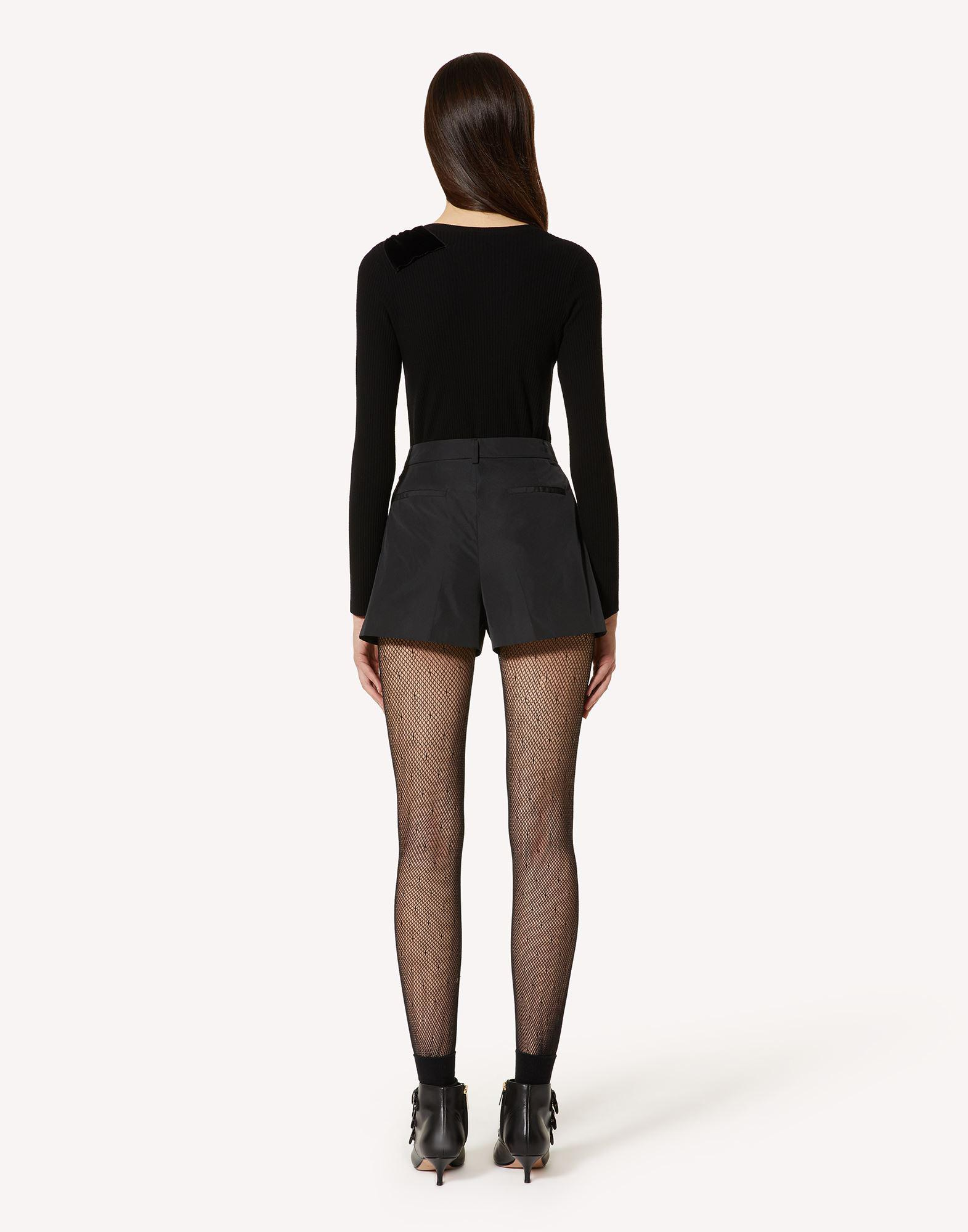 STRETCH VISCOSE SWEATER WITH BOW DETAIL 1