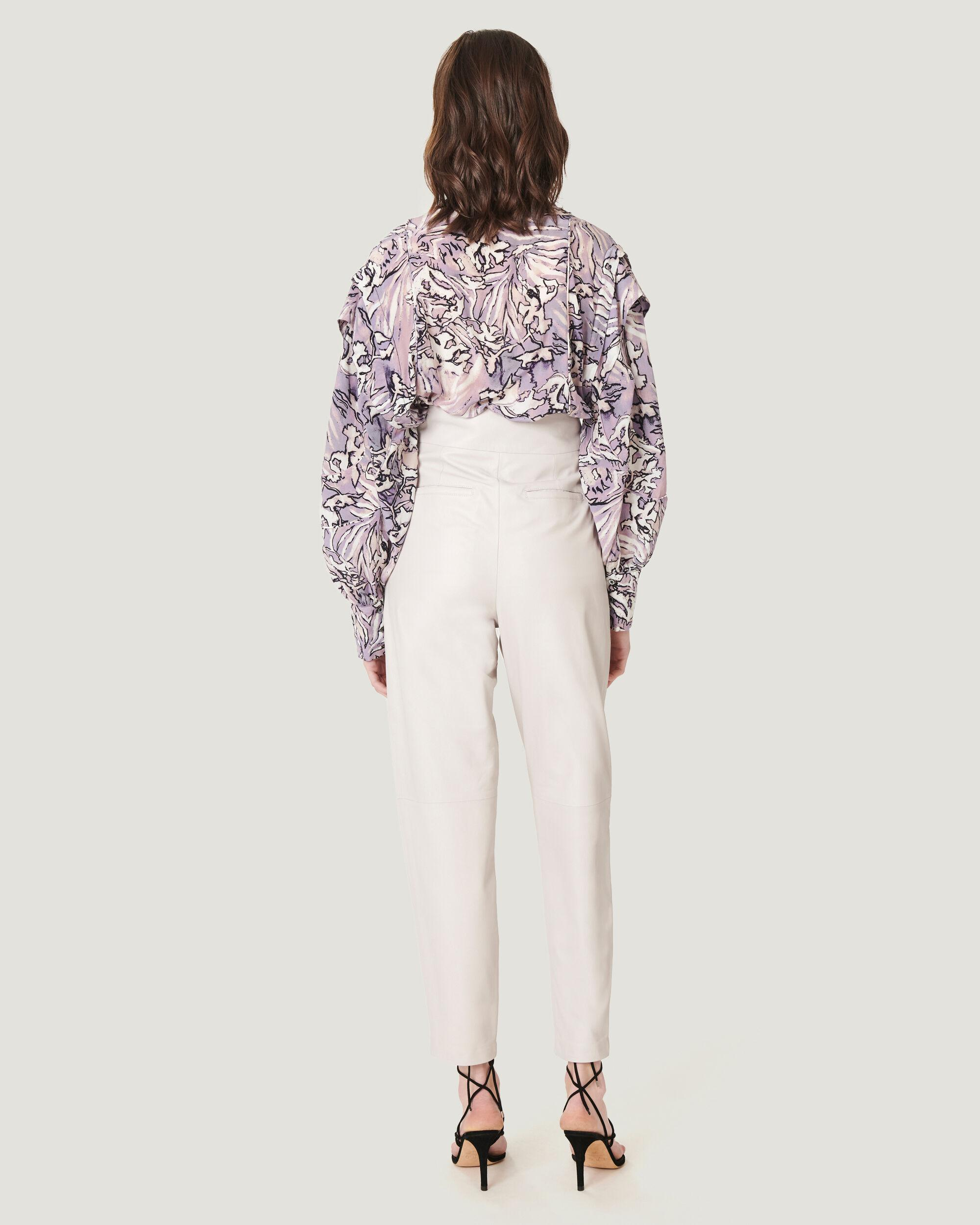 BISHO TAILORED HIGH WAIST LEATHER TROUSERS 1