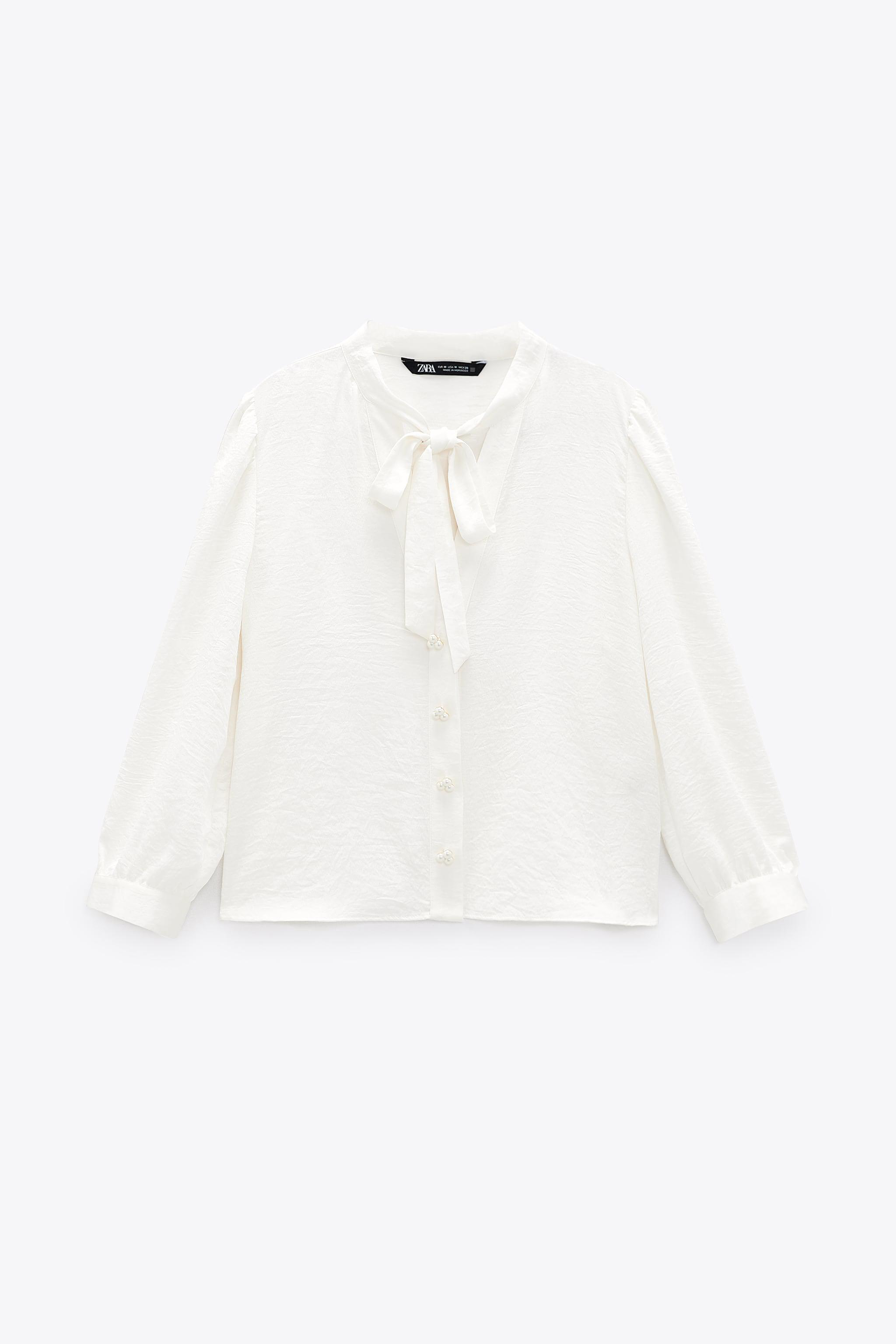PEARL BUTTON BOW TOP 5
