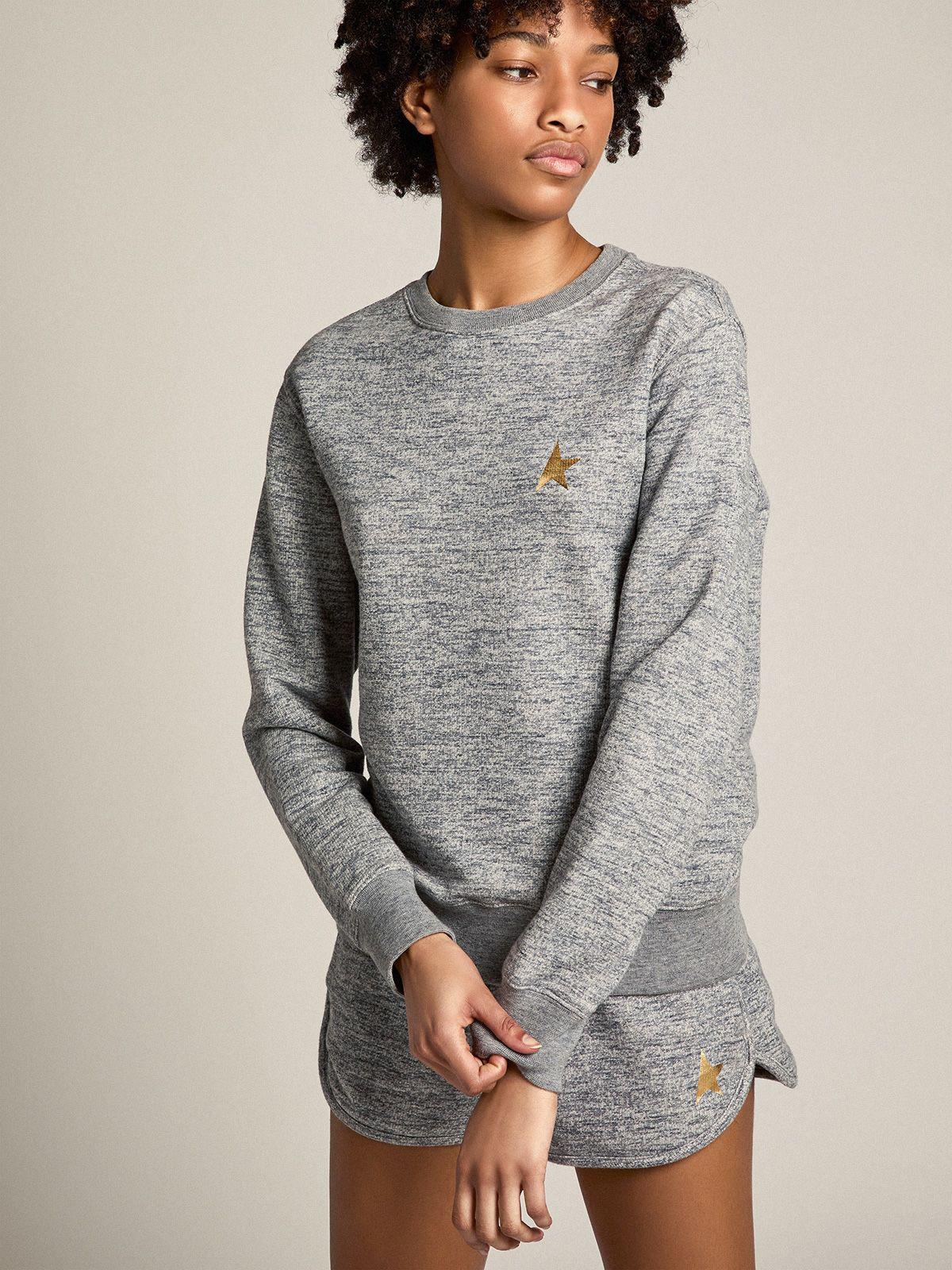 Melange gray Athena Star Collection sweatshirt with gold star on the front