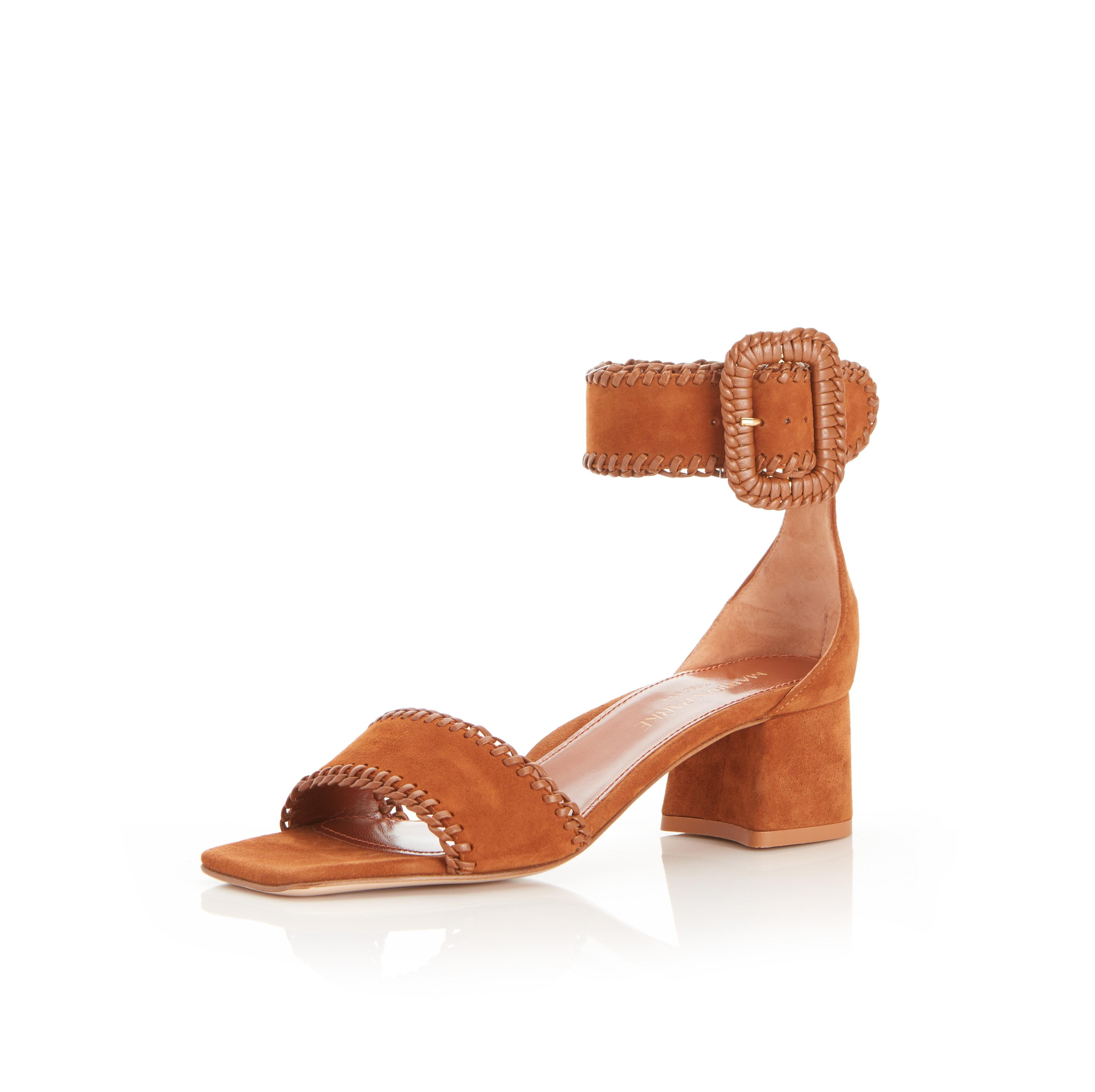 Isabelle | Suede Sandal With Block Heel 1