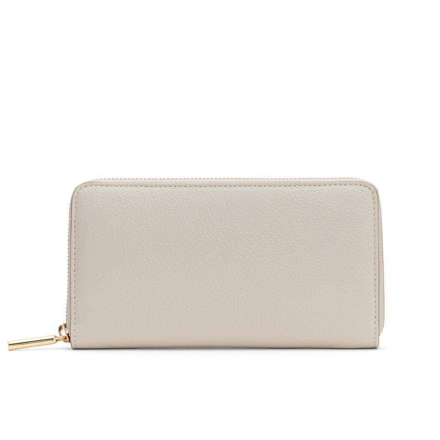 Women's Classic Zip Around Wallet in Light/Stone/Blush Pink | Pebbled Leather by Cuyana