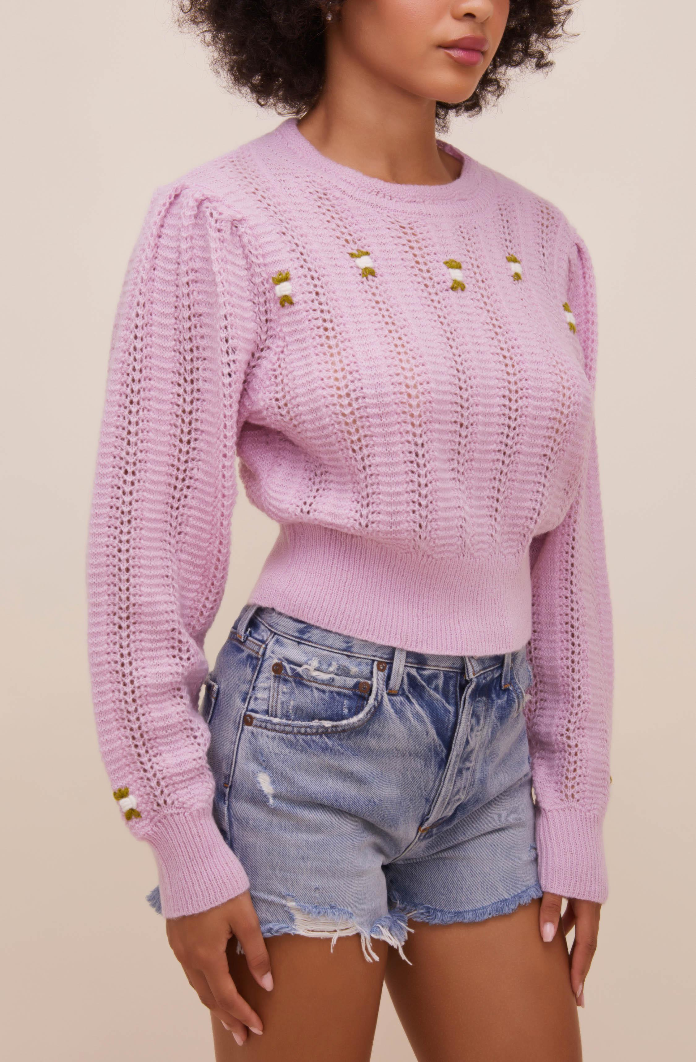 Taya Floral Embroidered Sweater 4