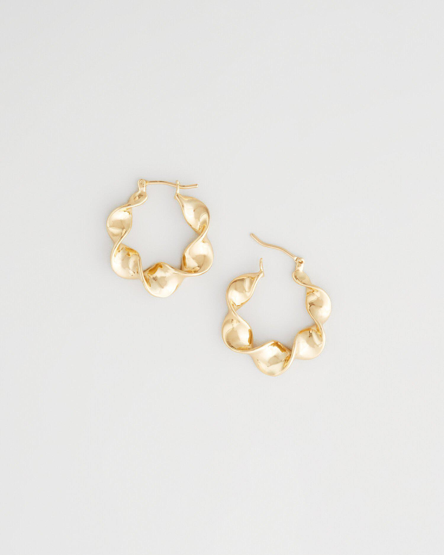 Lia Small Metal Twisted Hoop Gold