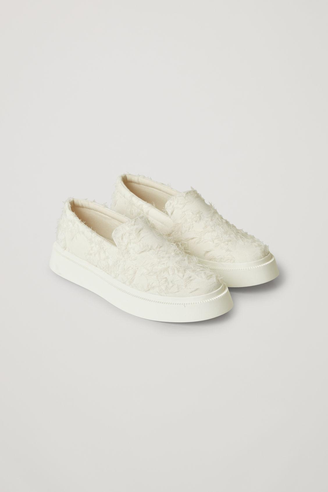 FLUFFY SLIP-ON CANVAS SNEAKERS