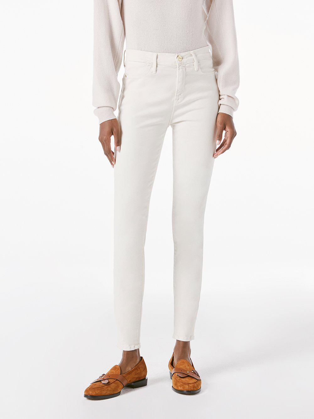 Le High Skinny Sateen -- Off White