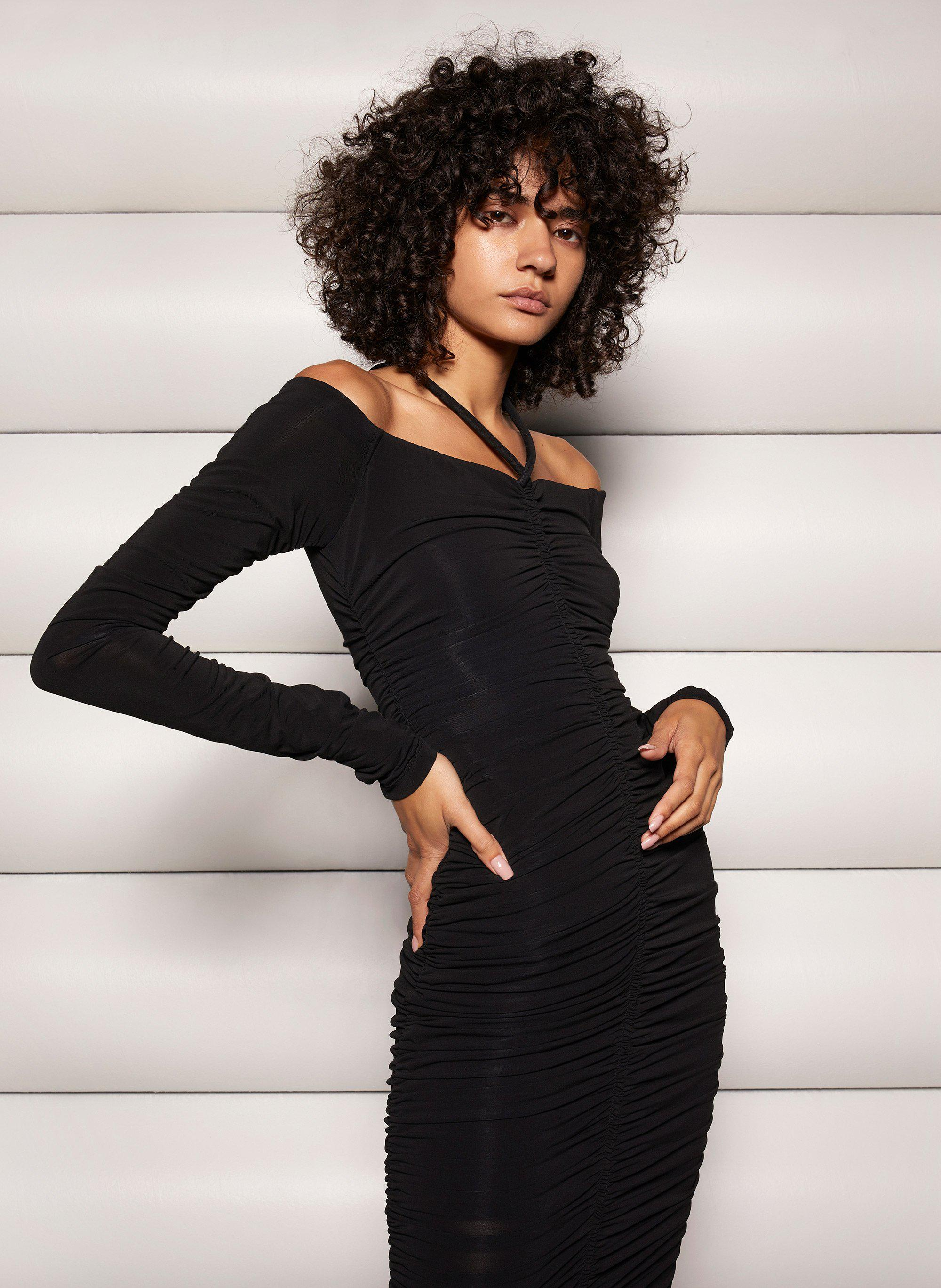 Avery Halter Ruched Dress