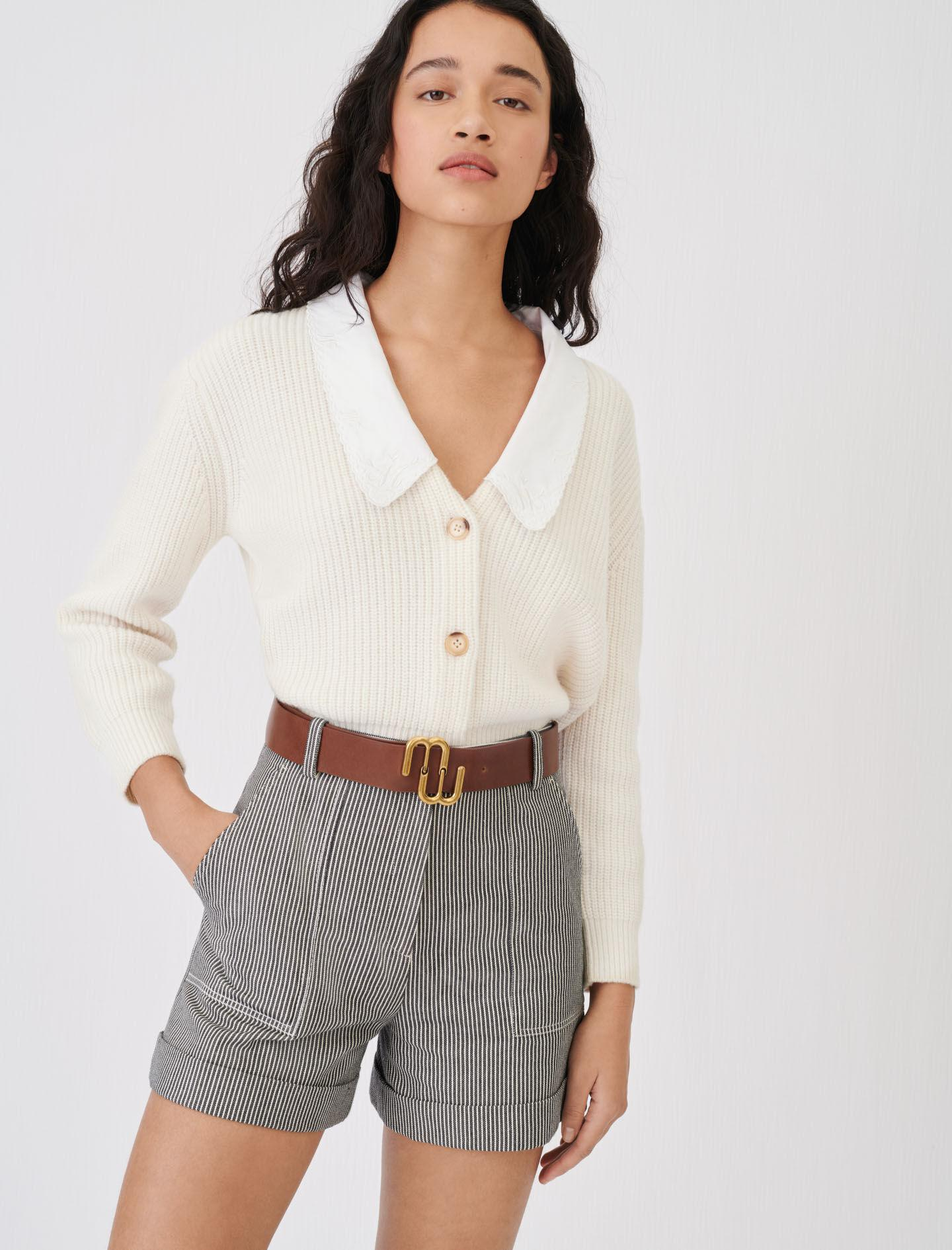 CROPPED CARDIGAN WITH LARGE COLLAR 1