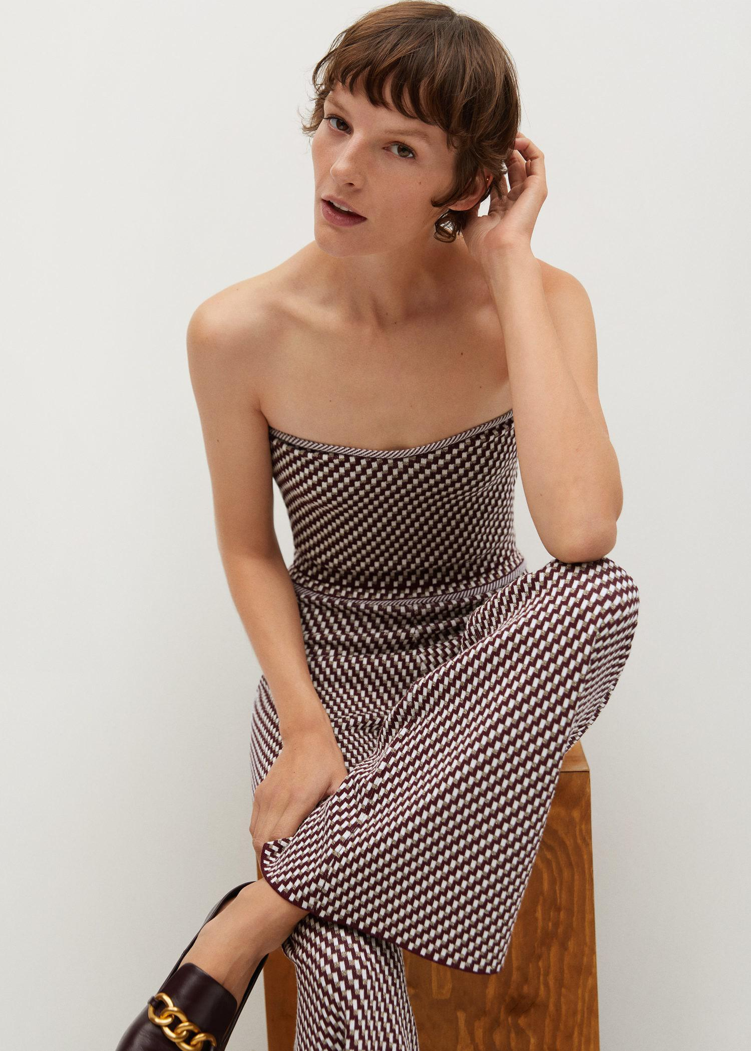 Knitted pants with geometric print 5